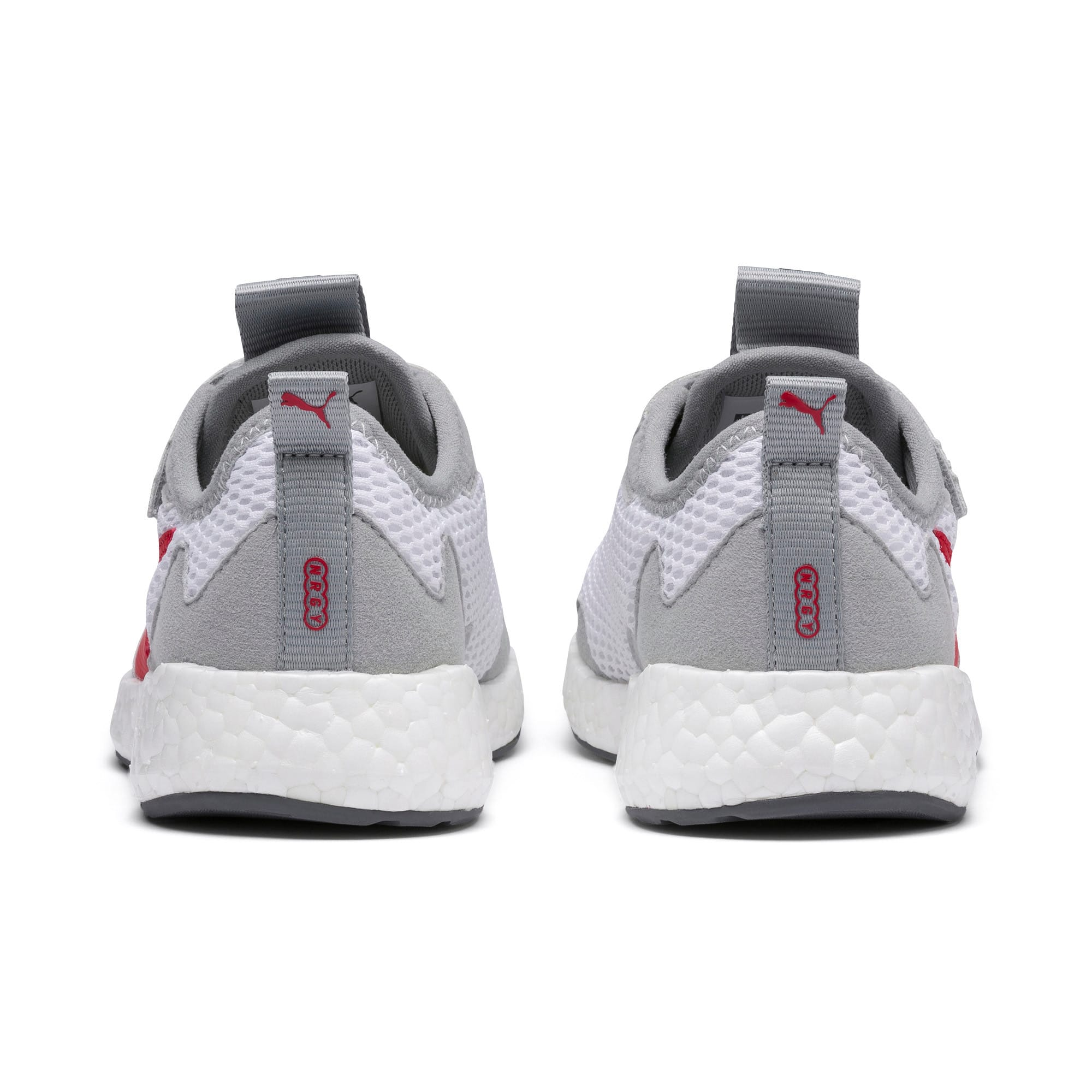 Thumbnail 3 of NRGY Neko Skim AC Kids Sneaker, White-H Rise-CASTLEROCK-Red, medium