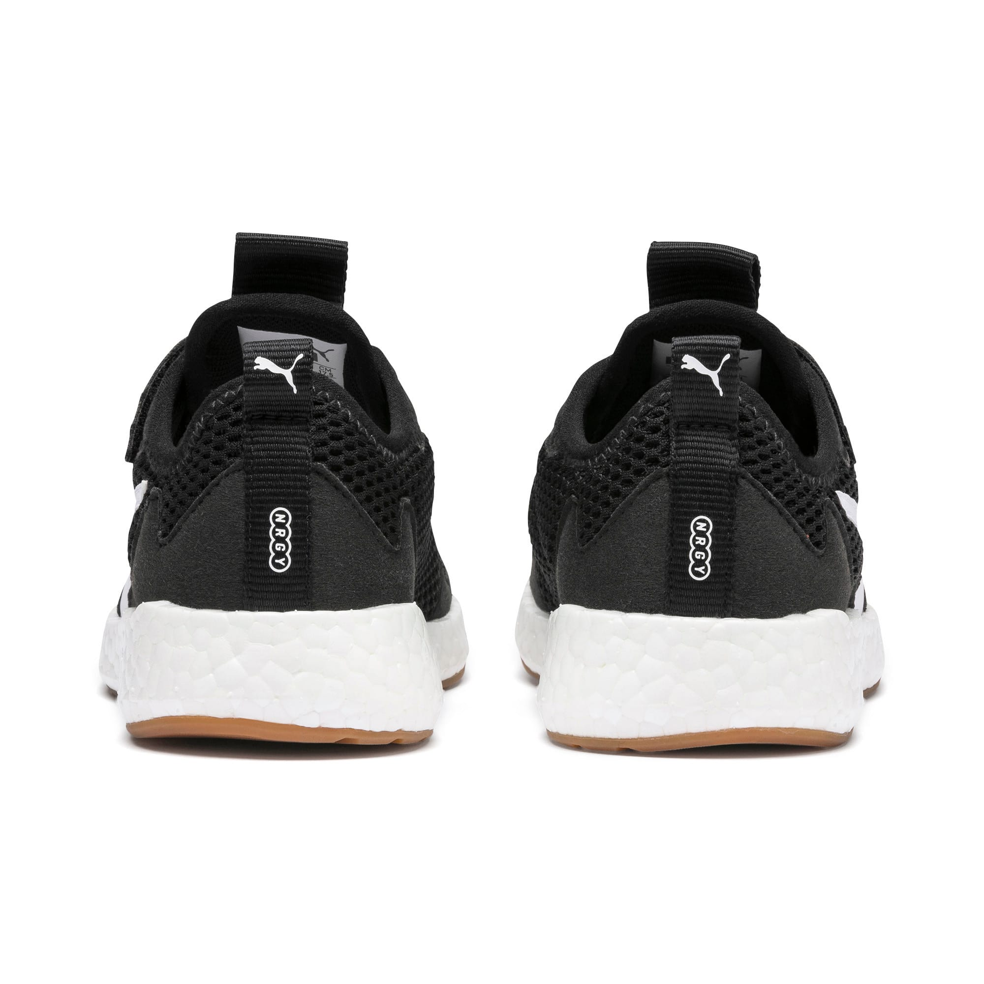 Thumbnail 3 of NRGY Neko Skim AC Kids' Trainers, Puma Black-Puma White, medium