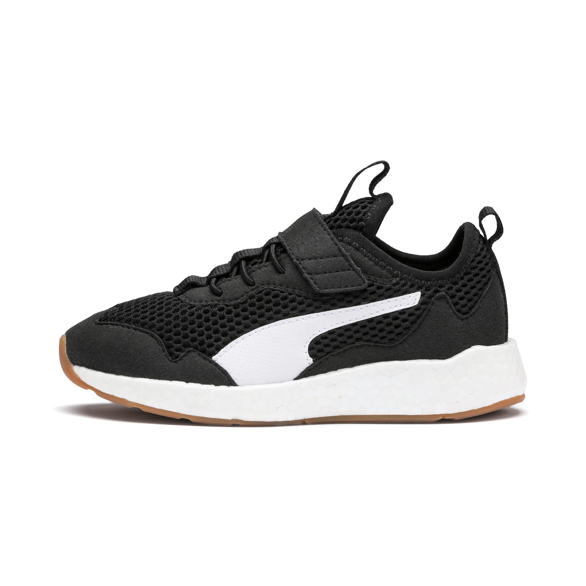 Thumbnail 1 of NRGY Neko Skim AC Kids' Trainers, Puma Black-Puma White, medium