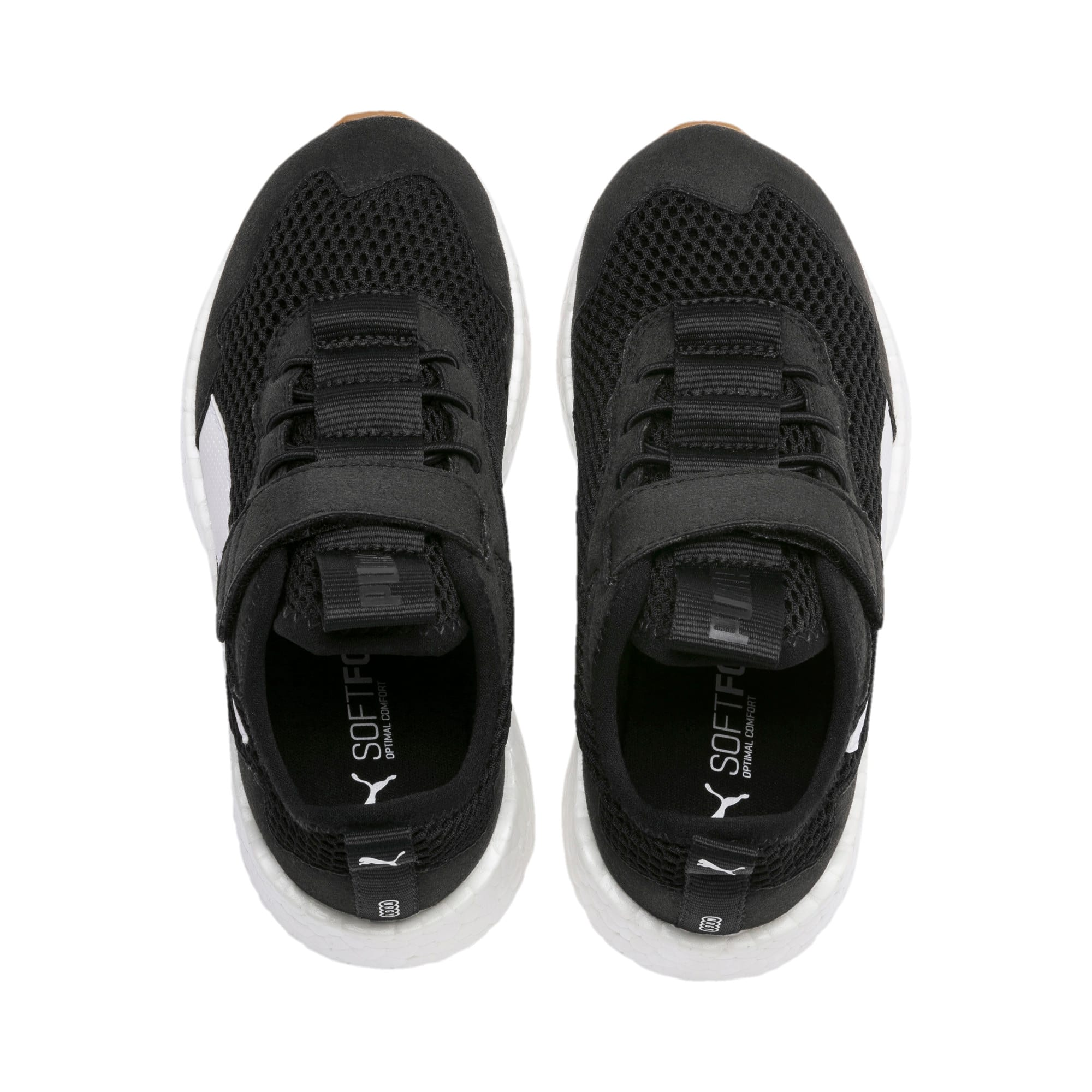 Thumbnail 6 of NRGY Neko Skim AC Kids' Trainers, Puma Black-Puma White, medium