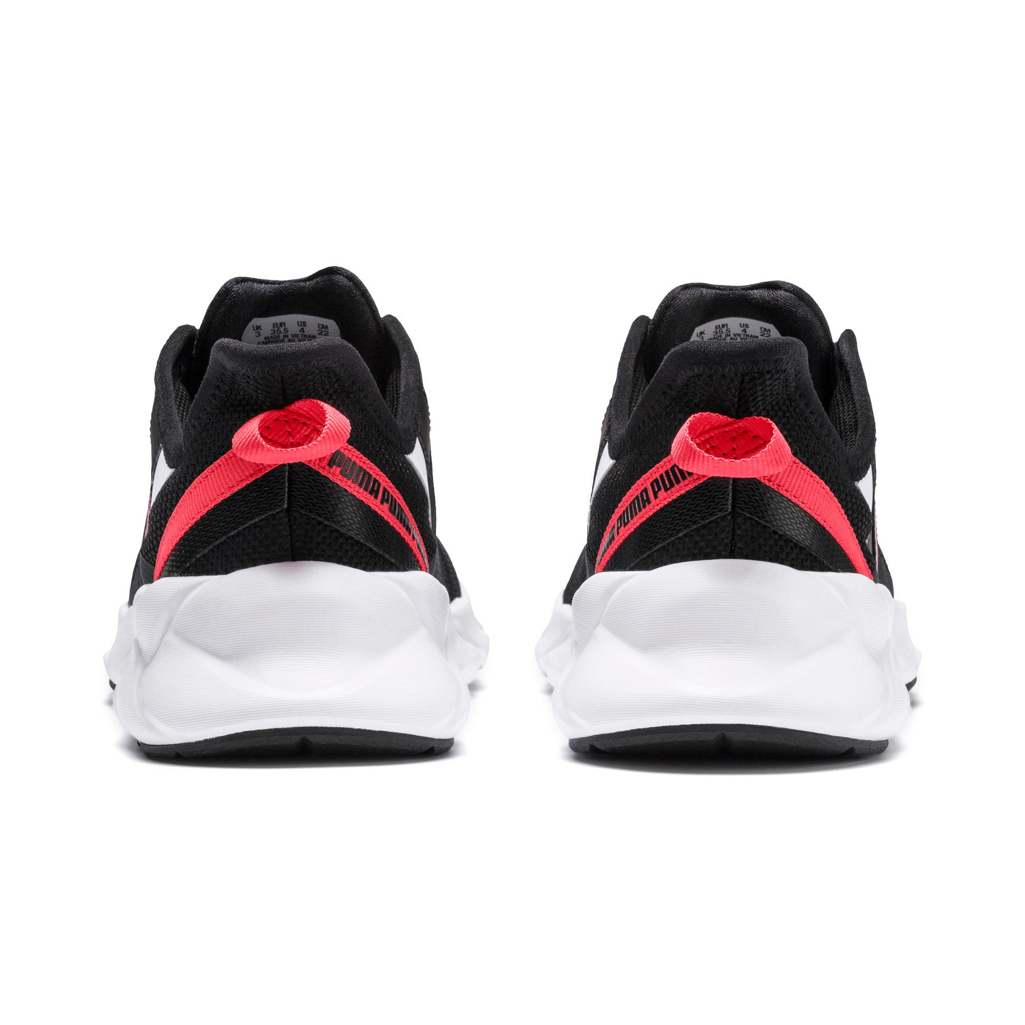 Thumbnail 3 of Weave XT Youth Trainers, Black-White-Calypso Coral, medium-IND