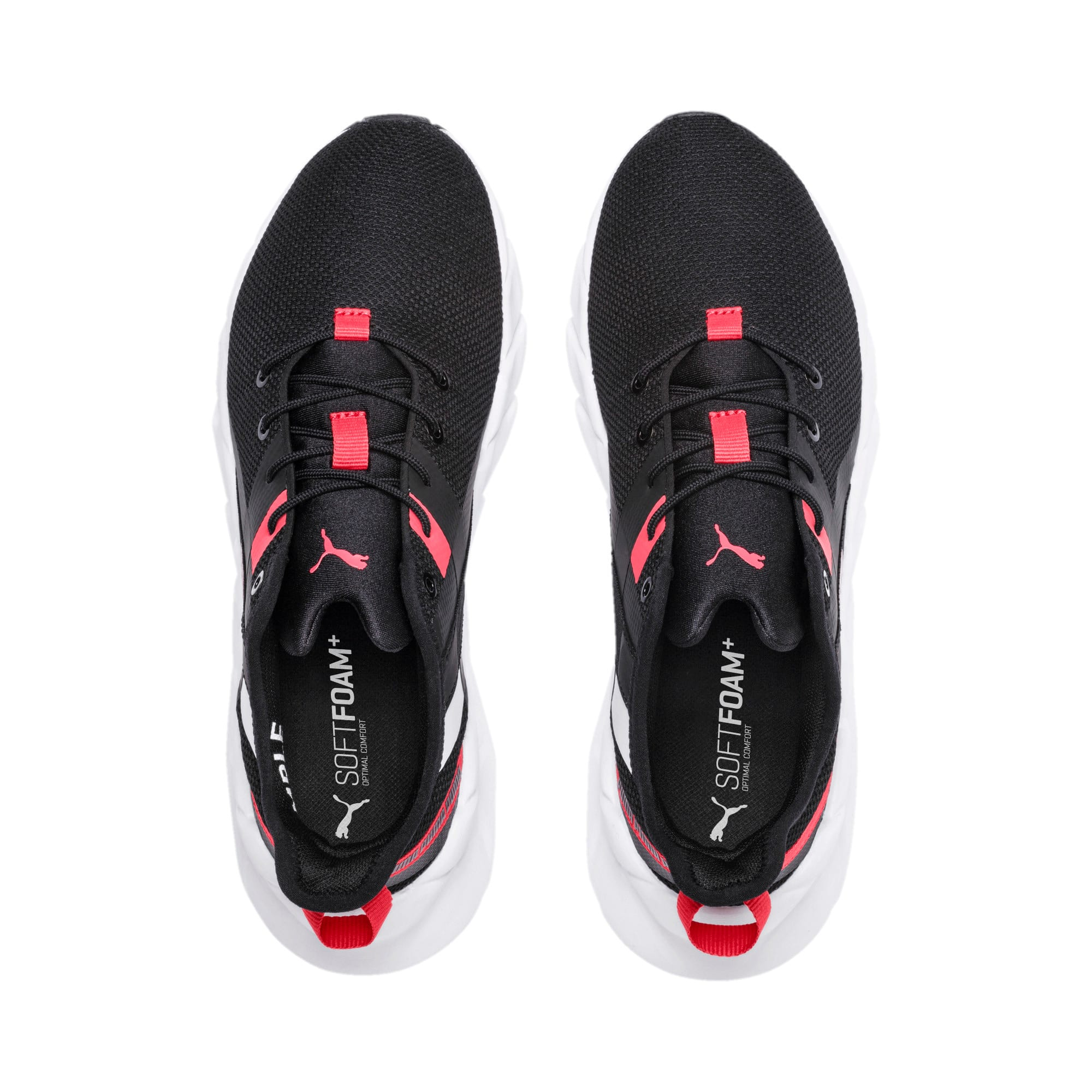 Thumbnail 2 of Weave XT Youth Trainers, Black-White-Calypso Coral, medium-IND
