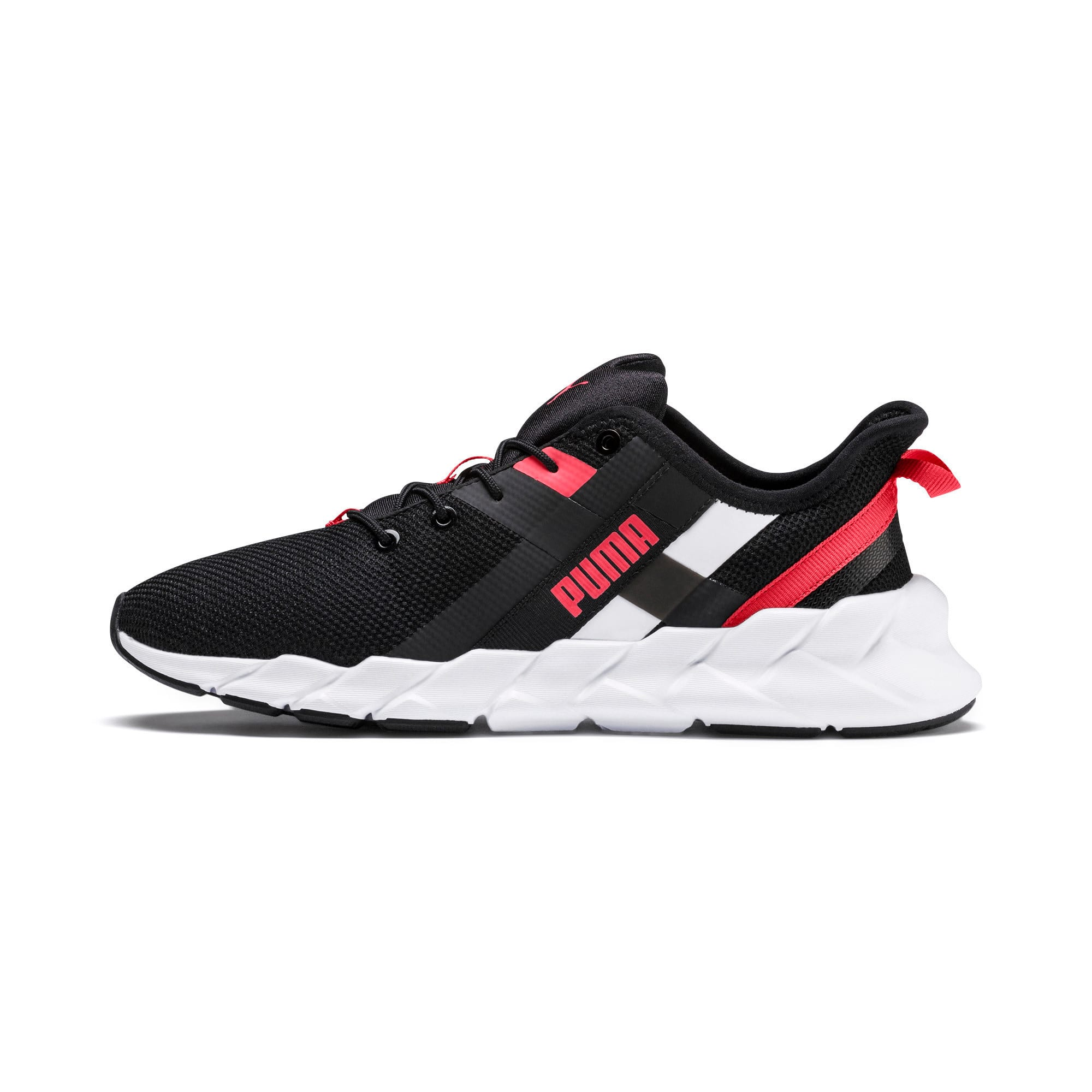 Thumbnail 1 of Weave XT Youth Trainers, Black-White-Calypso Coral, medium-IND