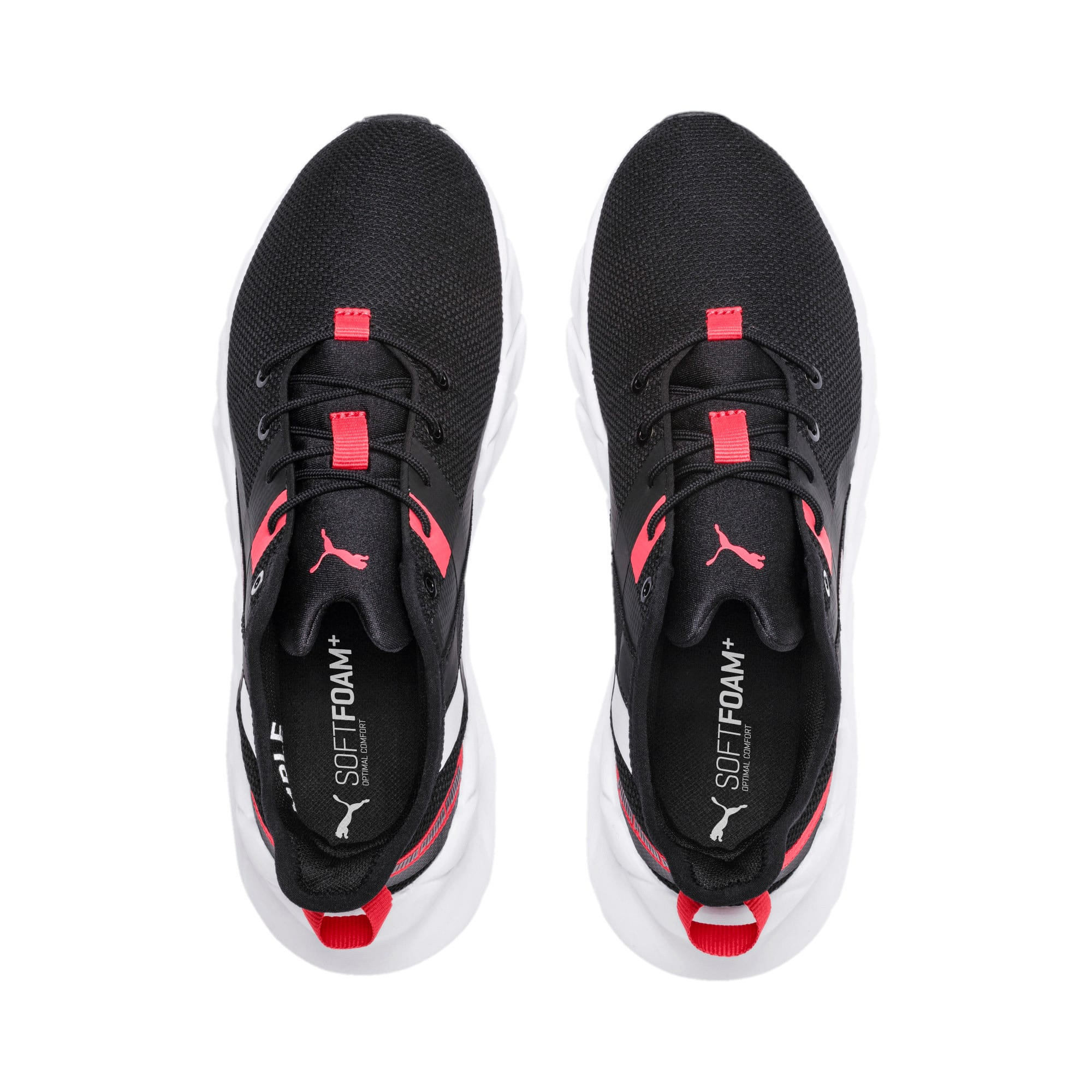 Thumbnail 6 of Weave XT Youth Trainers, Black-White-Calypso Coral, medium-IND