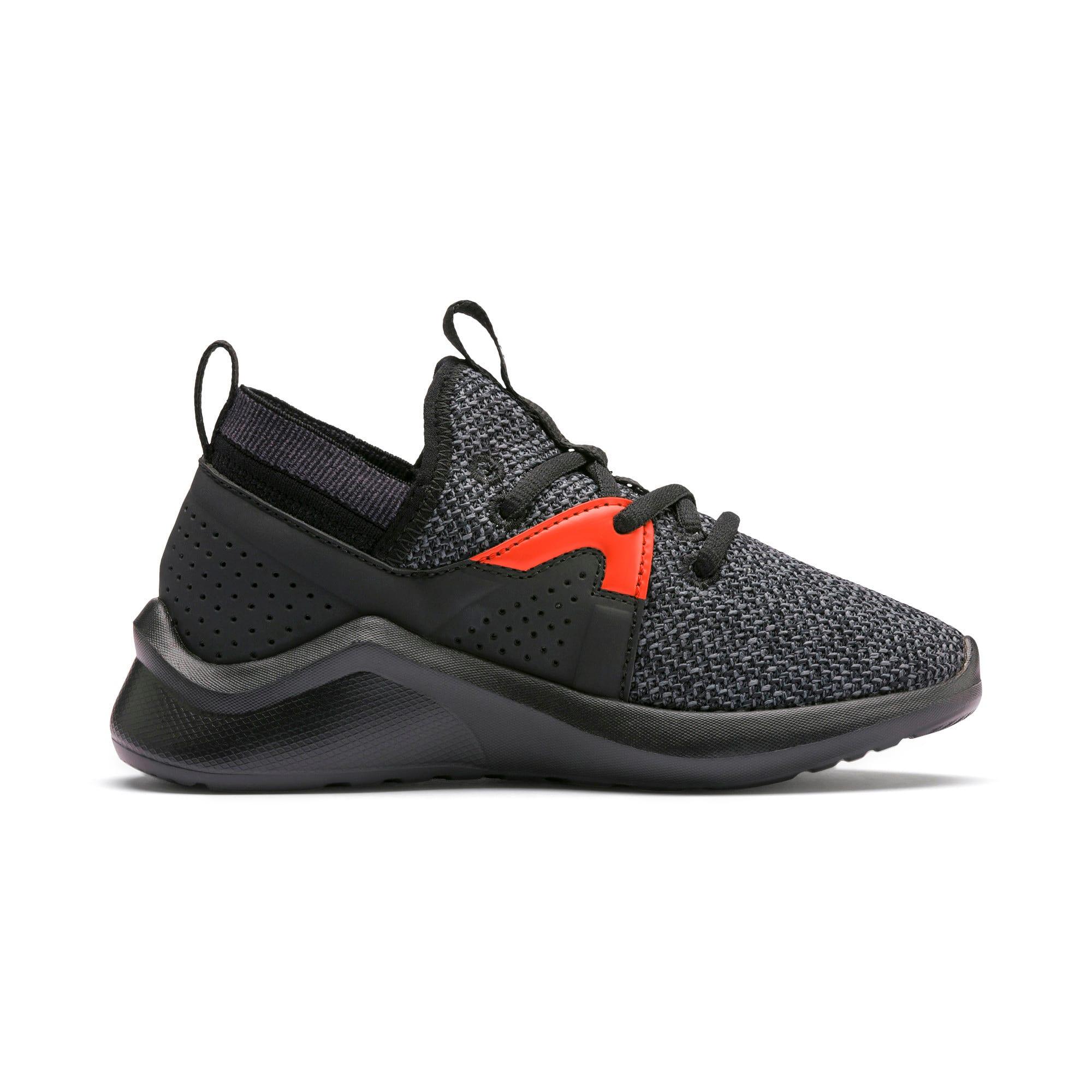 Thumbnail 5 of Emergence Little Kids' Shoes, Puma Black-Cherry Tomato, medium