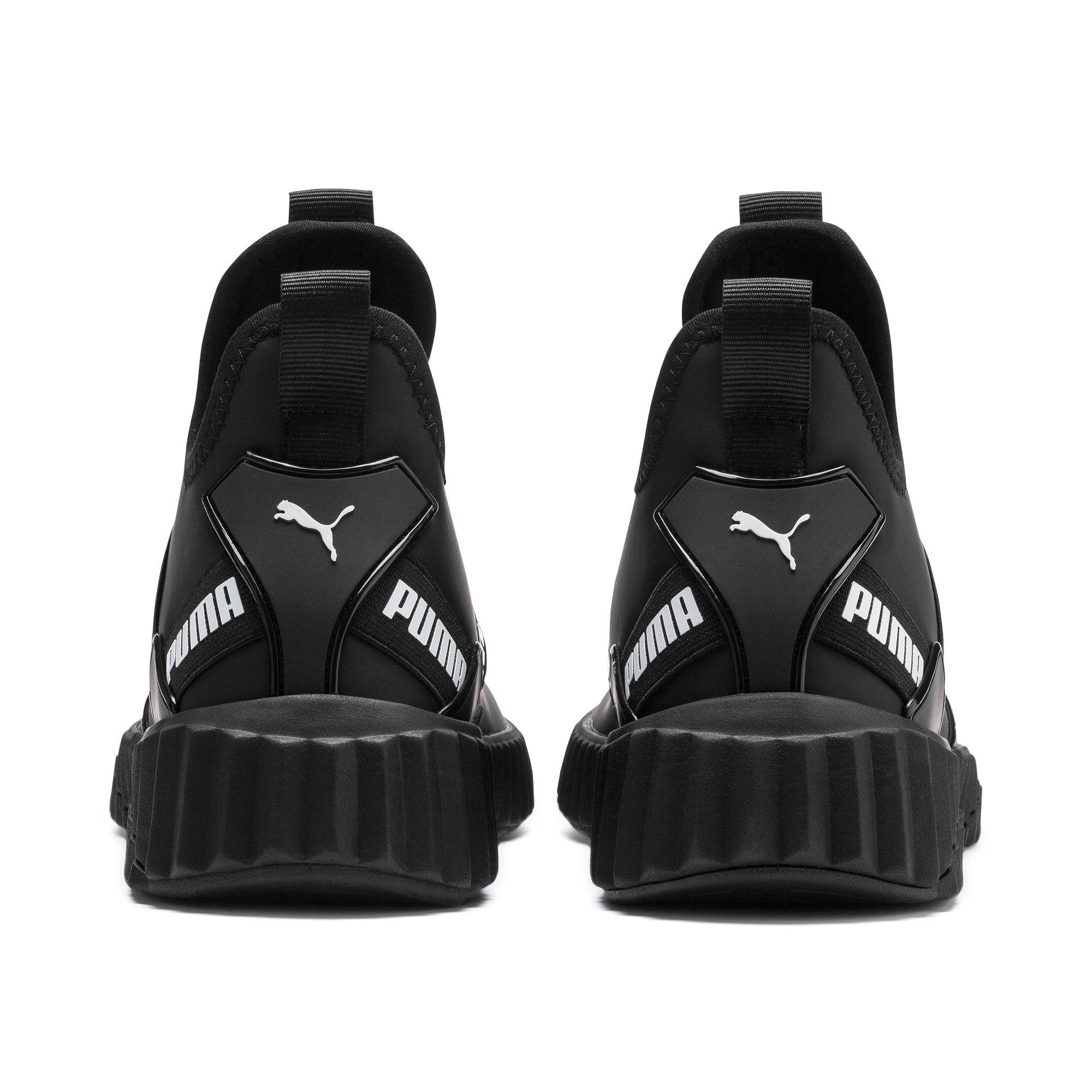 Imagen en miniatura 4 de Zapatillas de mujer Defy Mid Matte, Puma Black-Puma White, mediana