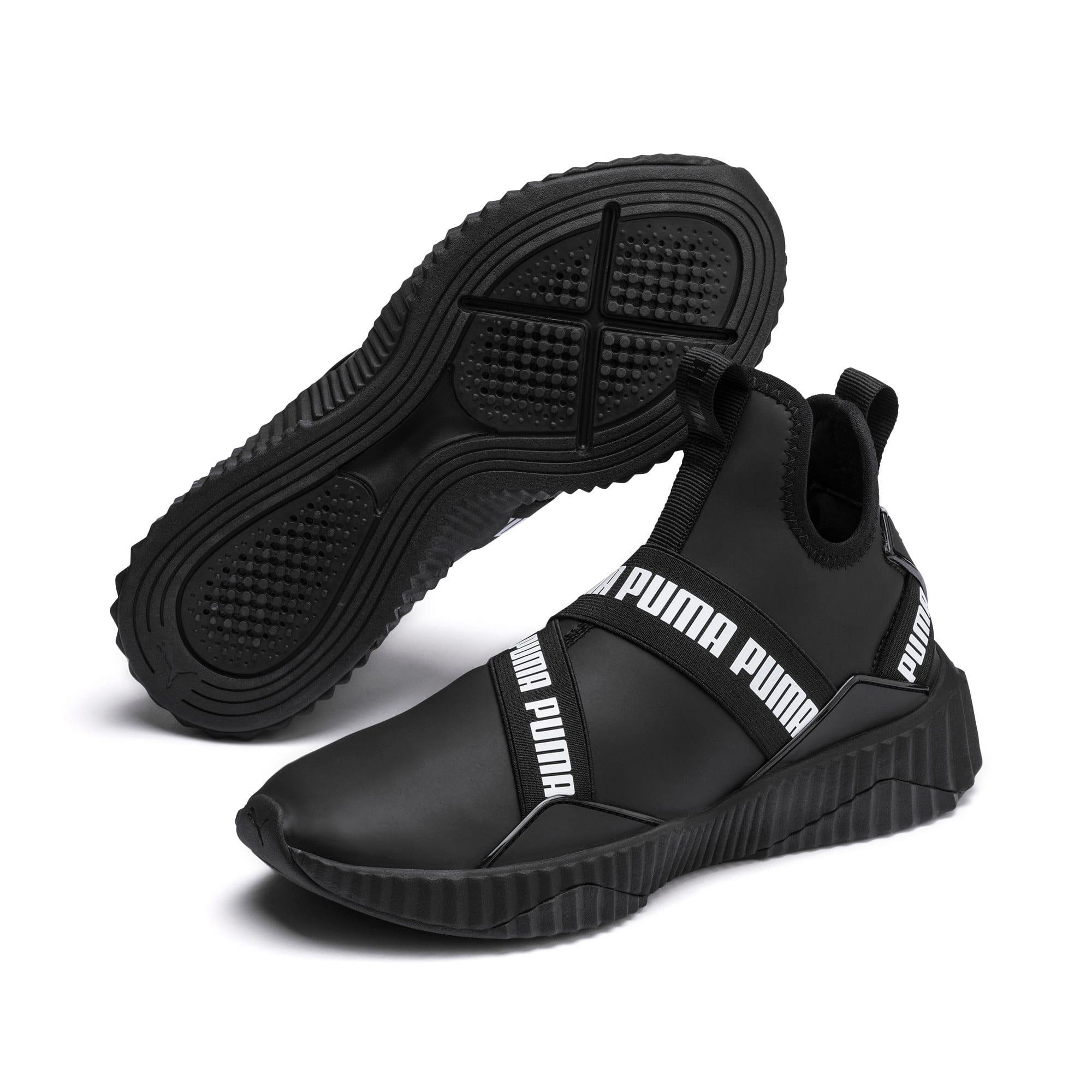 Imagen en miniatura 3 de Zapatillas de mujer Defy Mid Matte, Puma Black-Puma White, mediana