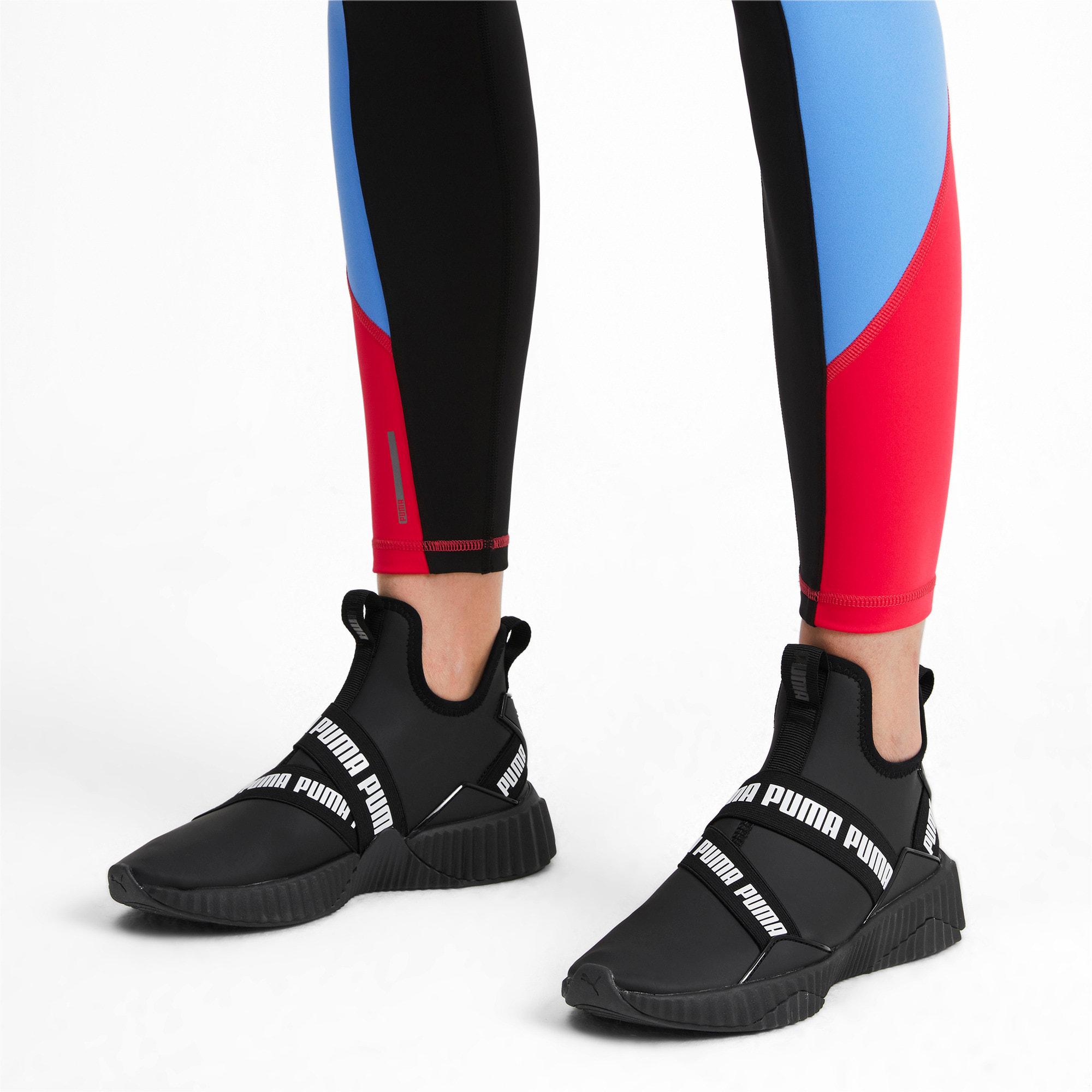 Imagen en miniatura 2 de Zapatillas de mujer Defy Mid Matte, Puma Black-Puma White, mediana