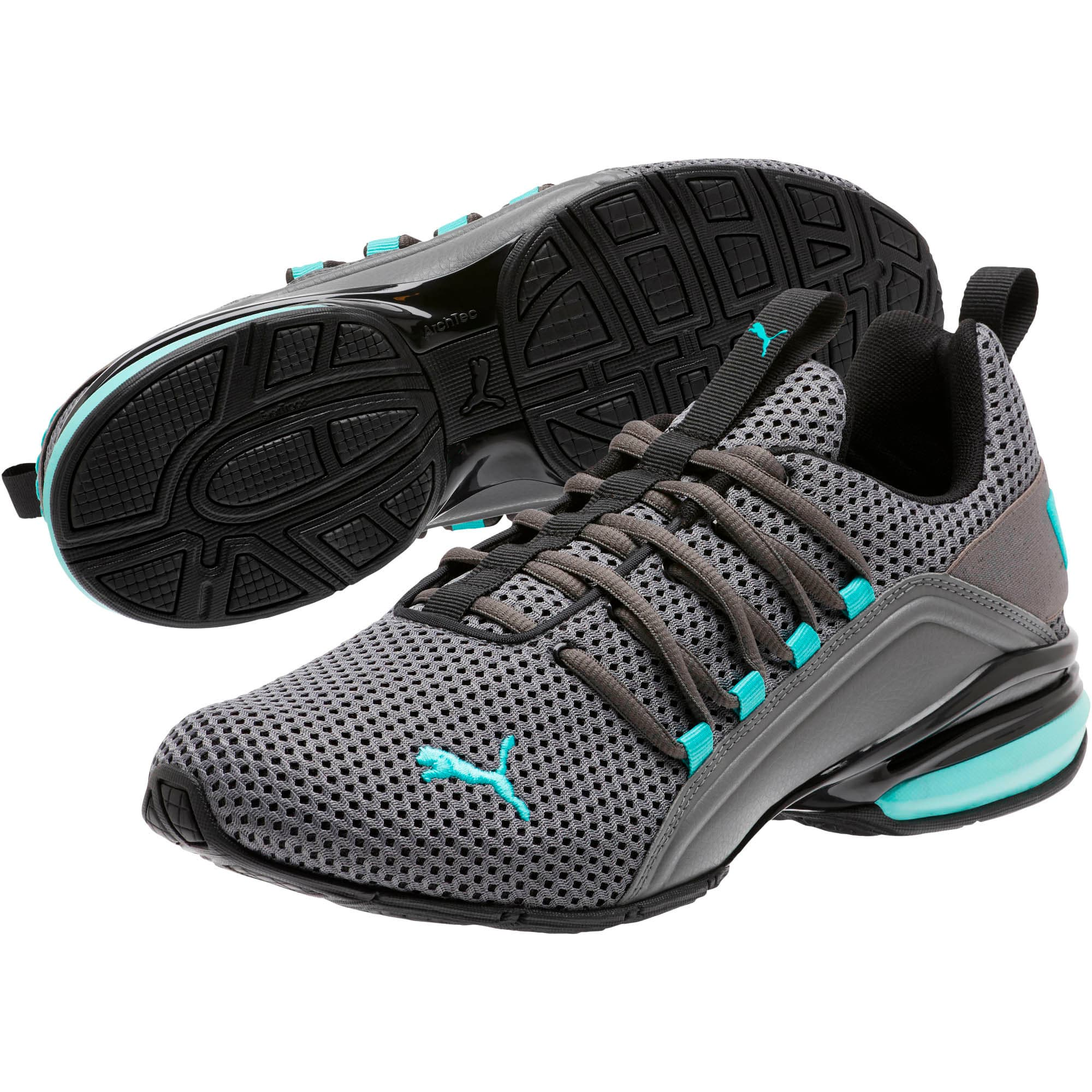 Thumbnail 2 of Axelion Breathe Men's Training Shoes, P Black-CASTLEROCK-Blue Turq, medium