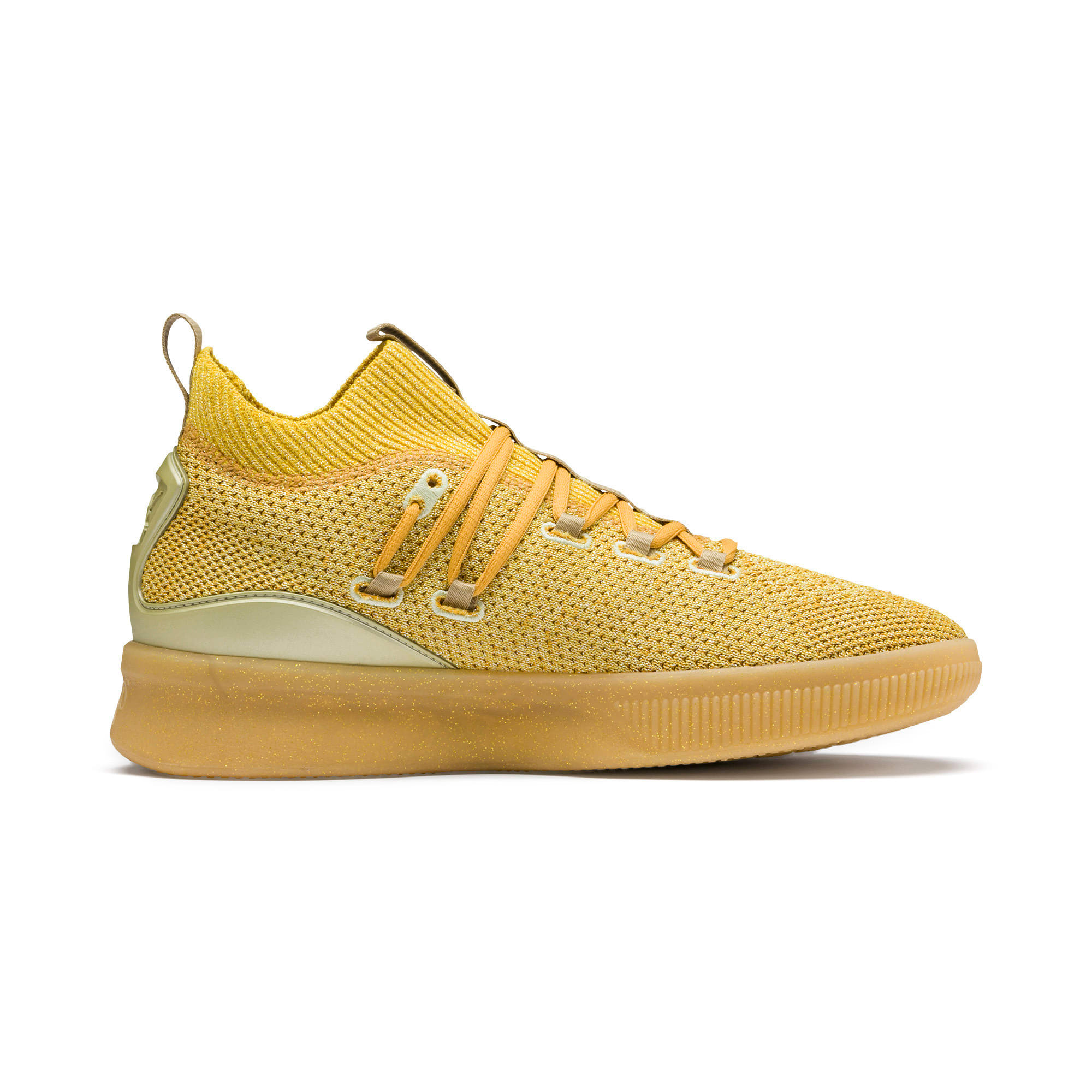 Thumbnail 5 of Clyde Court Title Run Basketball Shoes, Metallic Gold, medium