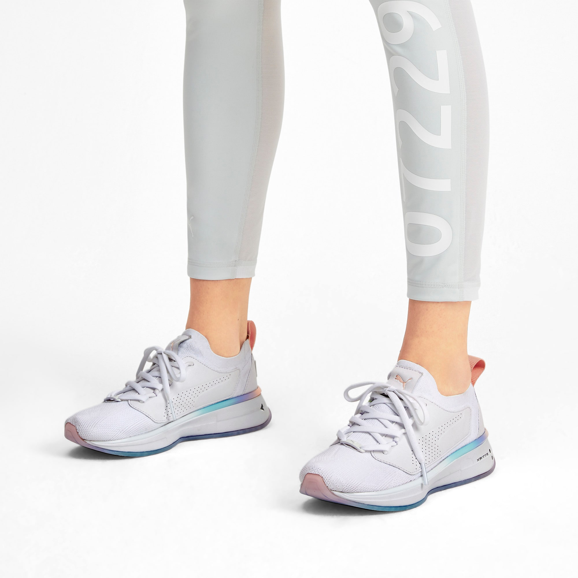 Thumbnail 2 of PUMA x SELENA GOMEZ Runner Women's Training Shoes, Puma White-Peach Bud, medium