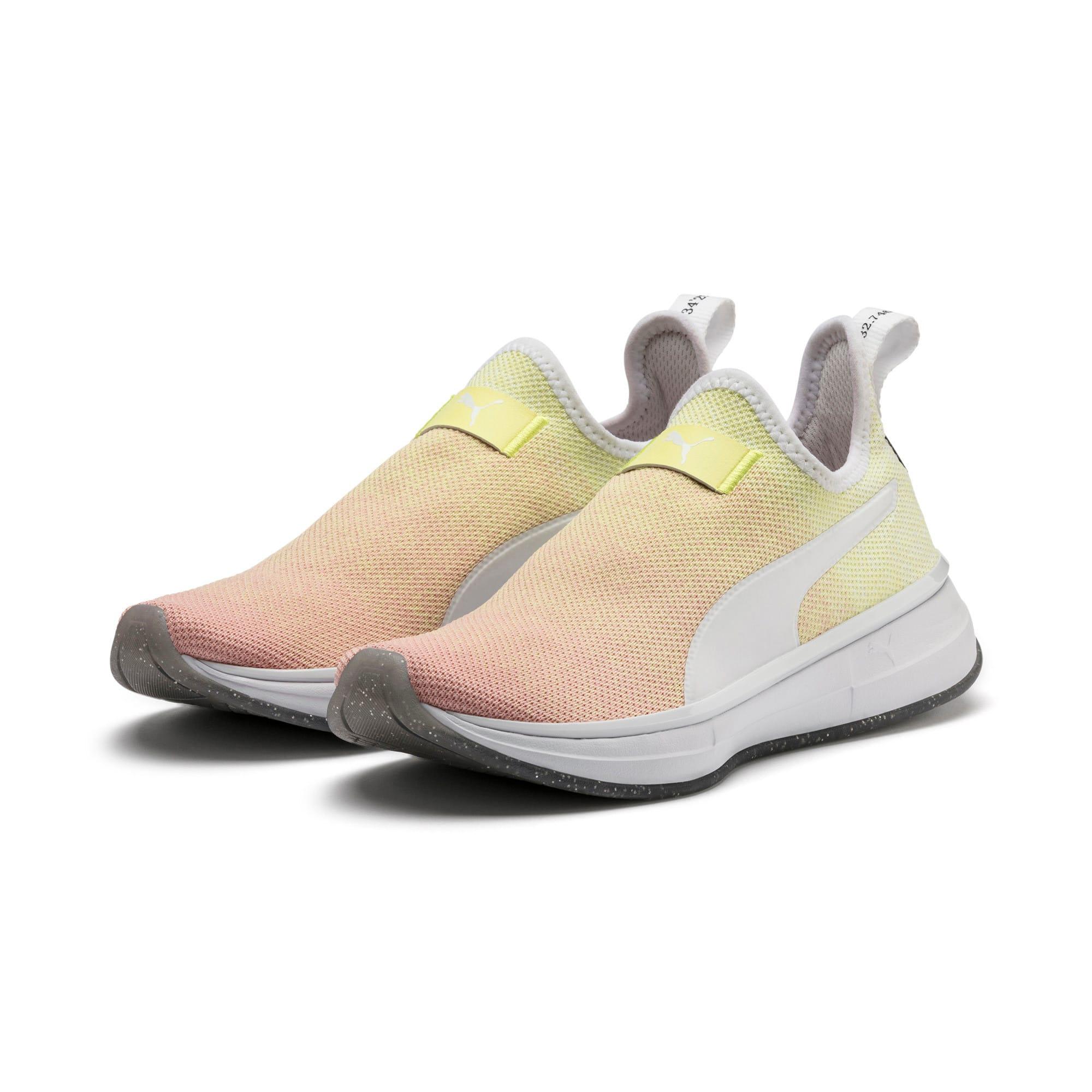 Thumbnail 3 of SG Slip-On Sunrise Women's Training Shoes, YELLOW-Peach Bud-White, medium