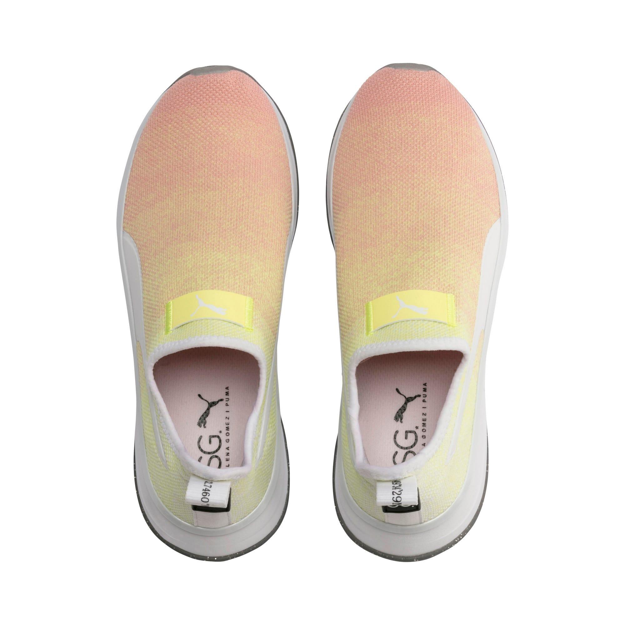 Thumbnail 7 of PUMA x SELENA GOMEZ Slip-On Gradient Women's Training Shoes, YELLOW-Peach Bud-White, medium