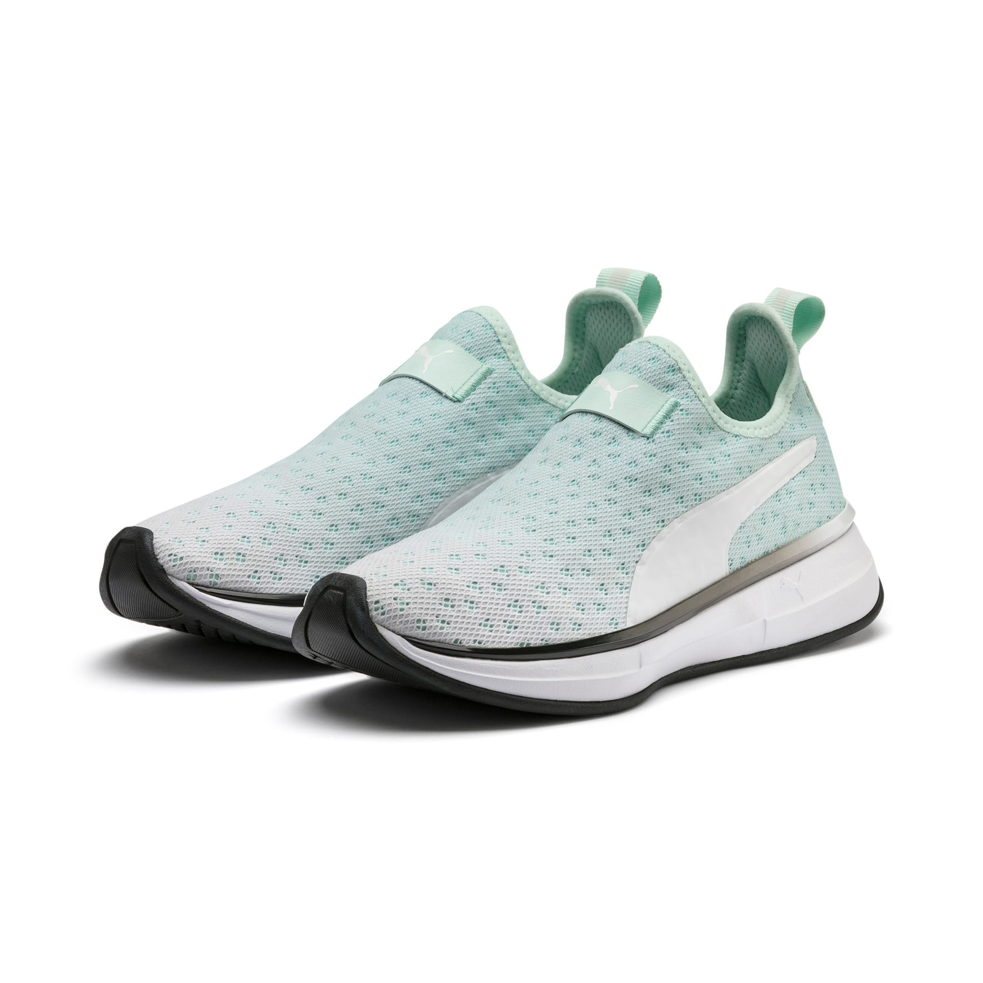 Thumbnail 3 of SG Slip-on Bright Fade Women's Training Shoes, Fair Aqua-Puma Black, medium