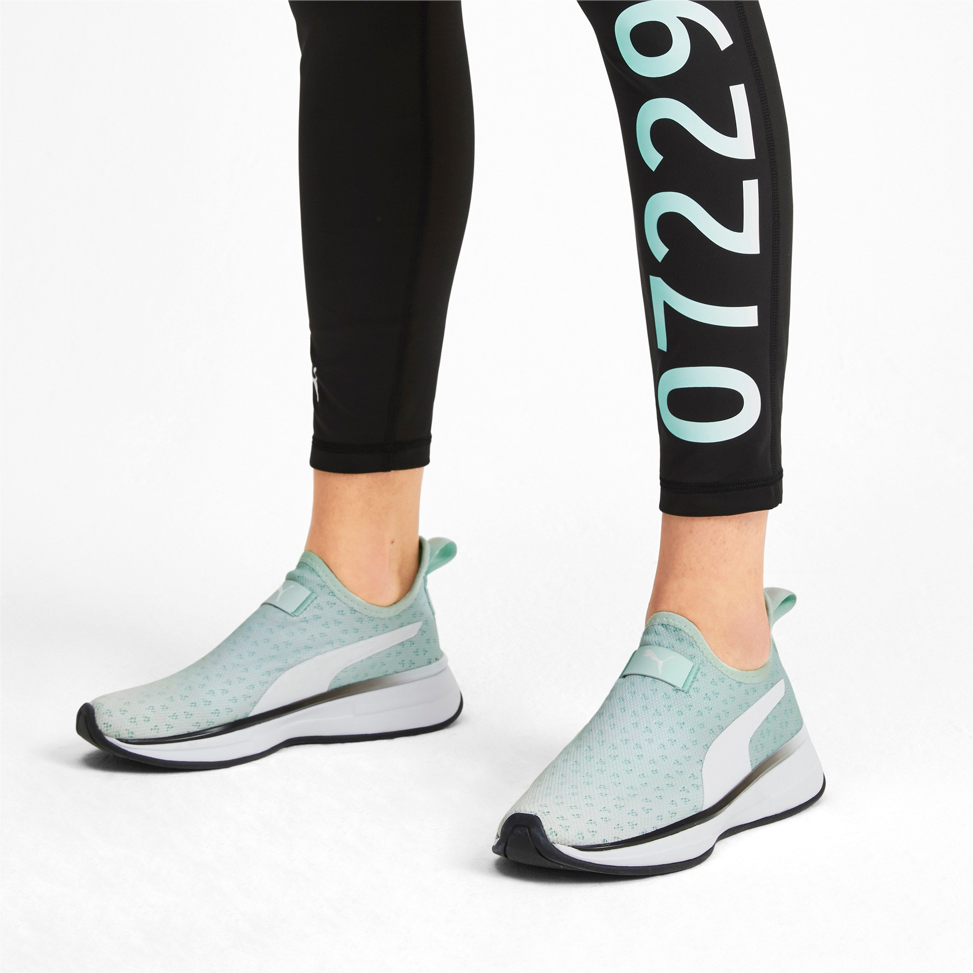 Thumbnail 2 of PUMA x SELENA GOMEZ Slip-On Women's Training Shoes, Fair Aqua-Puma Black, medium