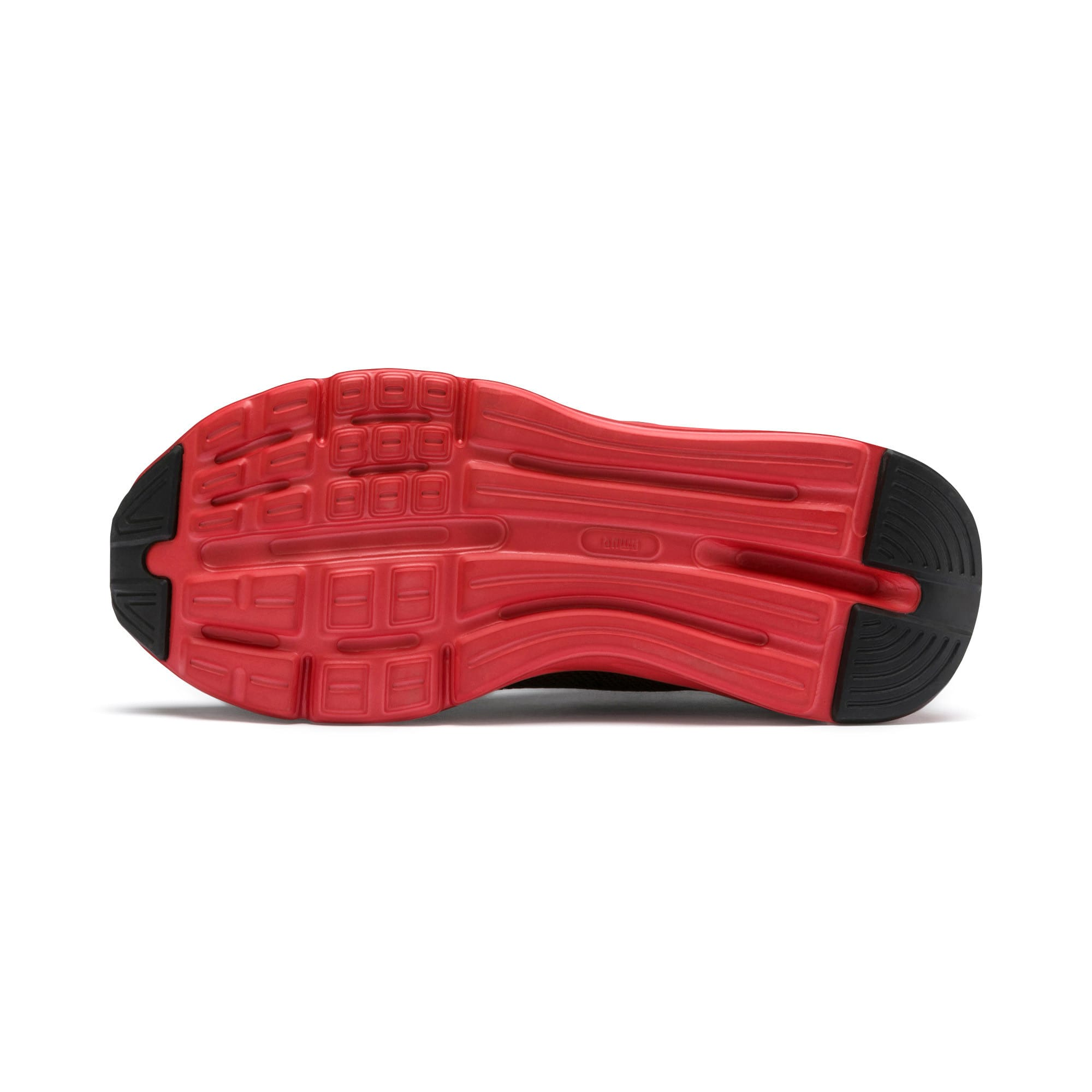 Thumbnail 4 of Enzo Beta SoftFoam Youth Trainers, Puma Black-High Risk Red, medium-IND