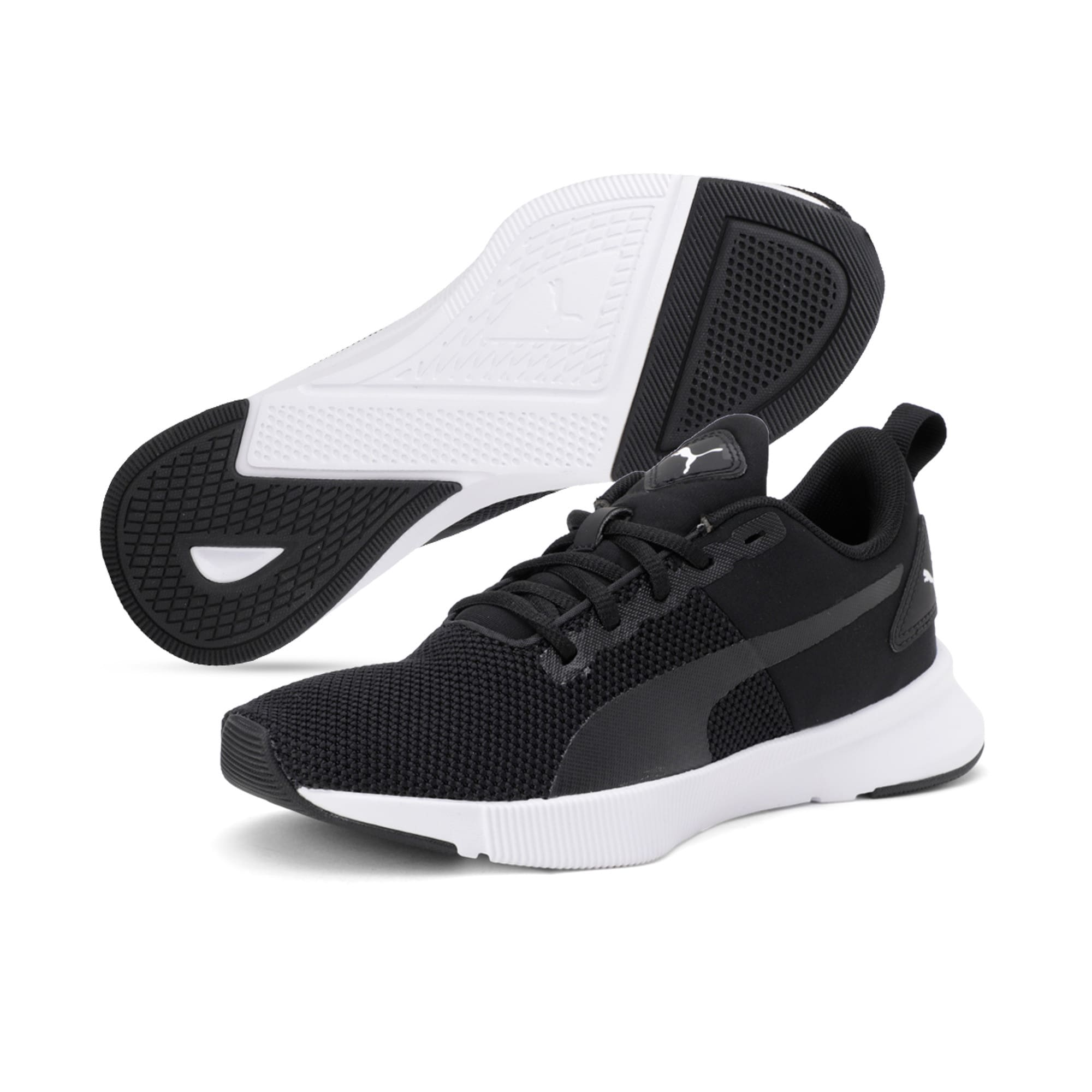 Thumbnail 2 of Flyer Runner Youth Trainers, Puma Black-Puma White, medium-IND
