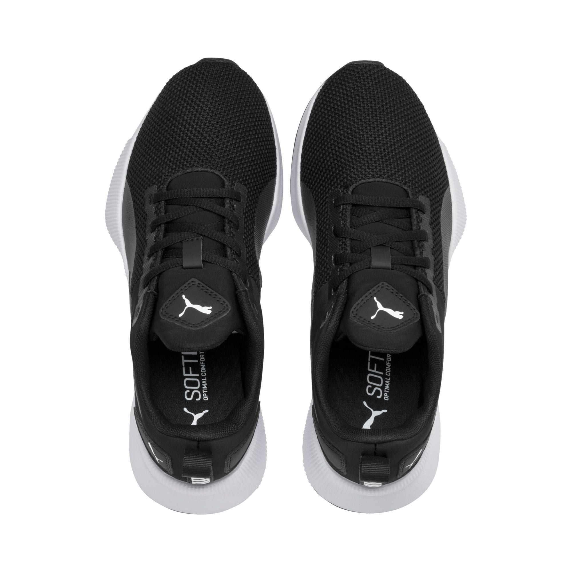 Thumbnail 6 of Flyer Runner Youth Trainers, Puma Black-Puma White, medium-IND