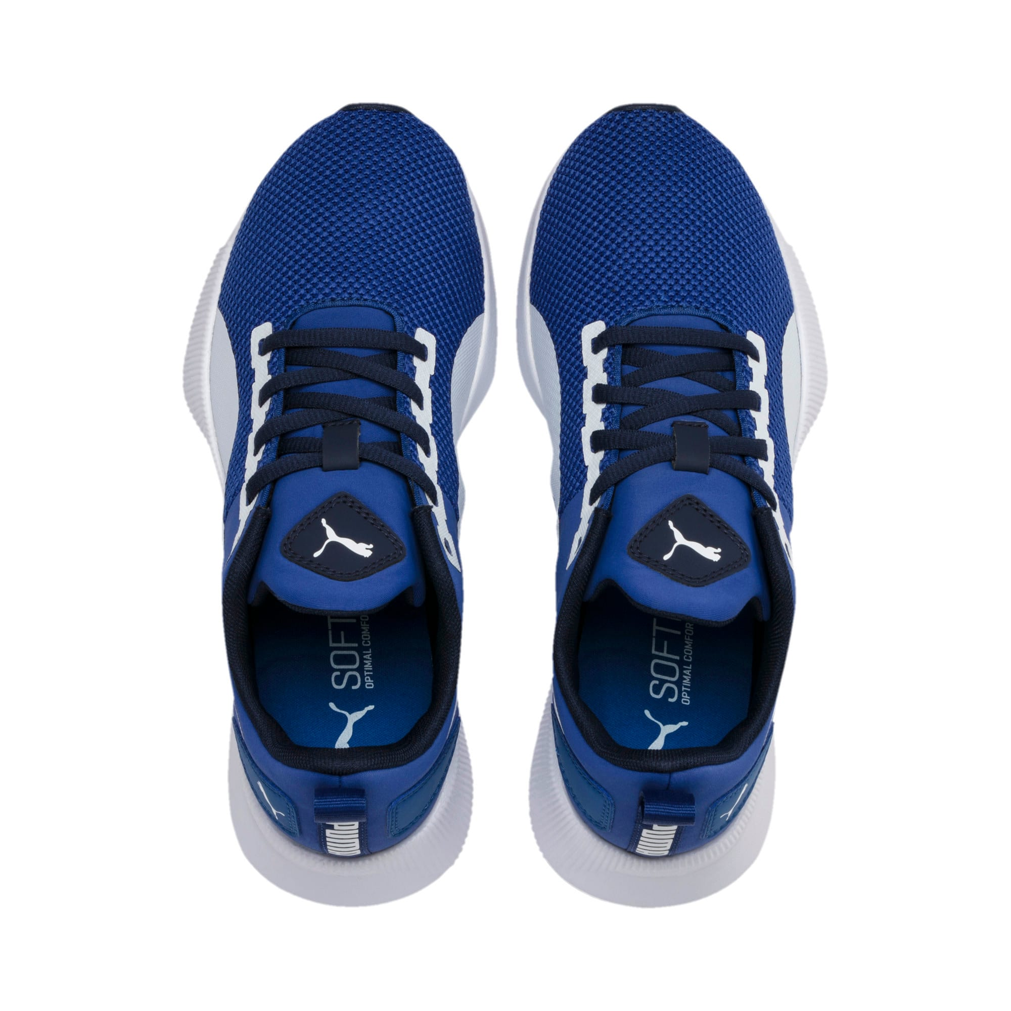 Thumbnail 2 of Flyer Runner Youth Trainers, Galaxy Blue-White-Peacoat, medium-IND
