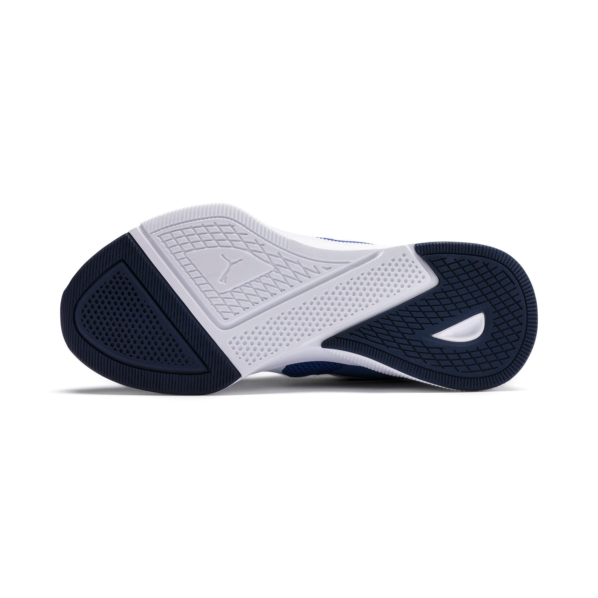 Thumbnail 4 of Flyer Runner Youth Trainers, Galaxy Blue-White-Peacoat, medium-IND
