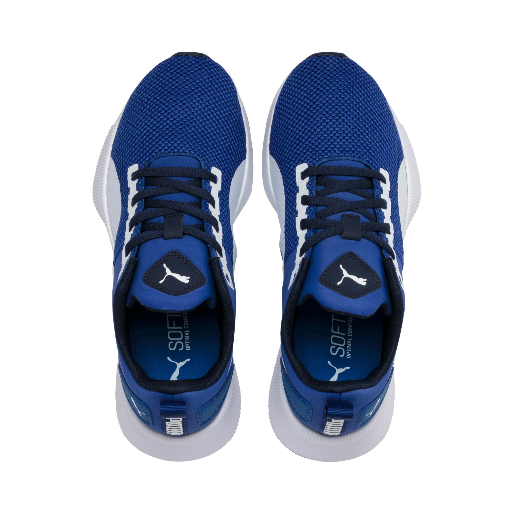 Thumbnail 6 of Flyer Runner Youth Trainers, Galaxy Blue-White-Peacoat, medium-IND