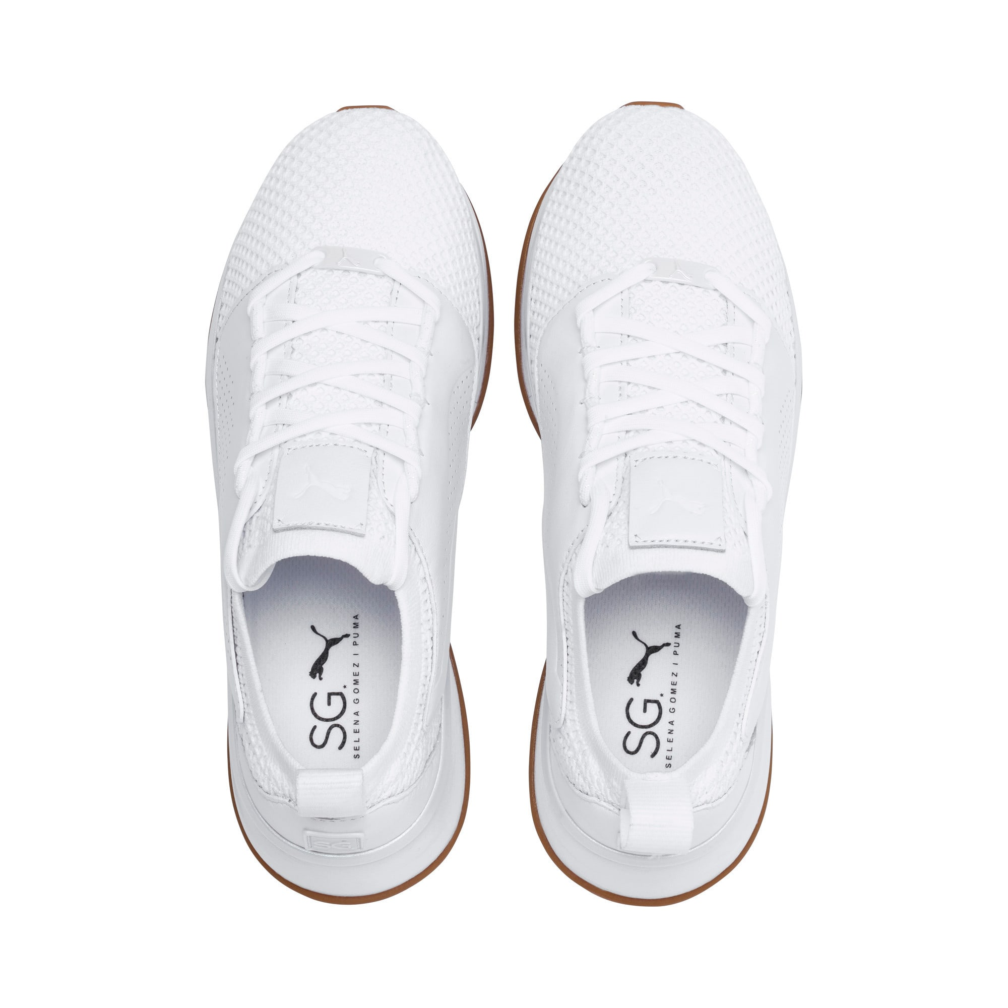 Thumbnail 6 of PUMA x SELENA GOMEZ Runner Women's Training Shoes, Puma White, medium-IND