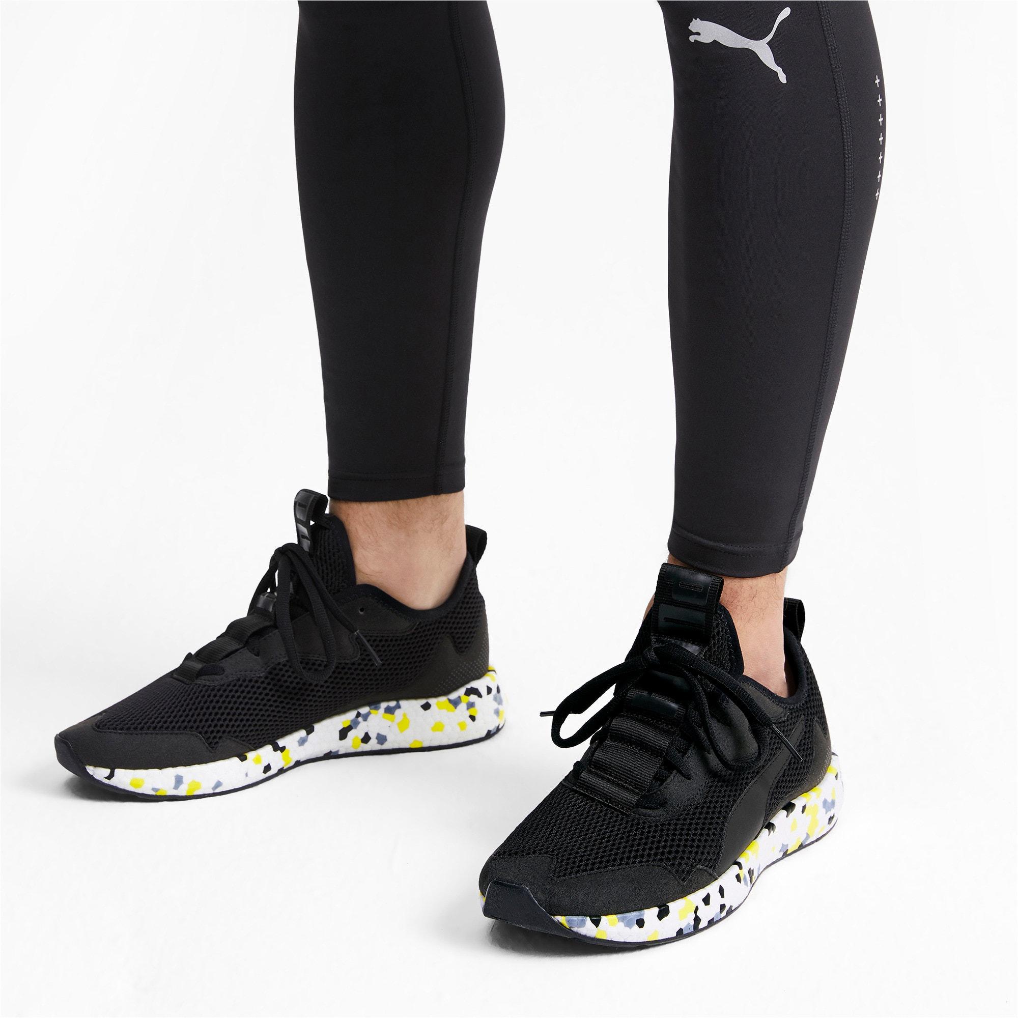 Thumbnail 3 of NRGY Neko Skim Men's Running Shoes, Puma Black-Yellow Alert, medium-IND