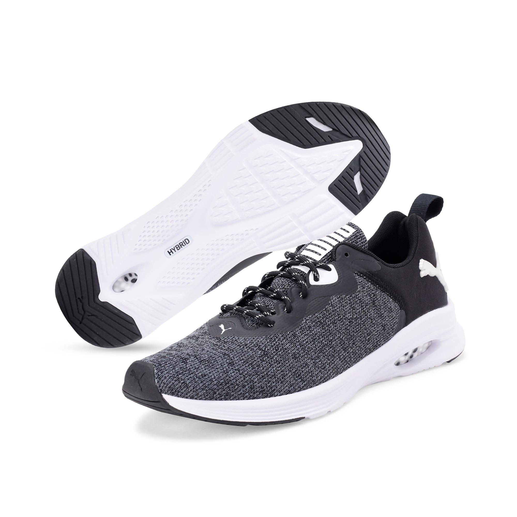 Thumbnail 2 of HYBRID Fuego evoKNIT Men's Running Shoes, CASTLEROCK-Puma Blk-Pma Wht, medium-IND