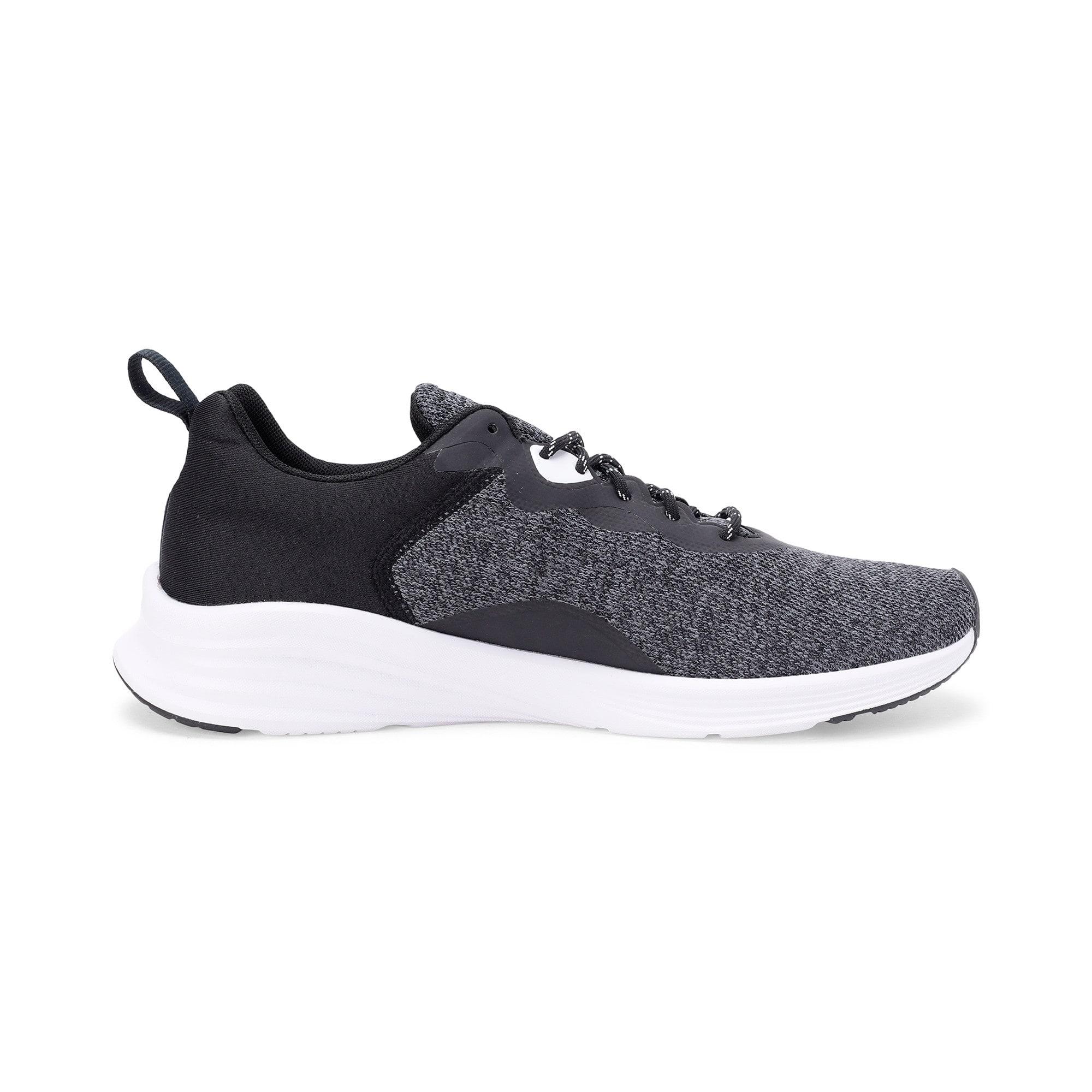 Thumbnail 5 of HYBRID Fuego evoKNIT Men's Running Shoes, CASTLEROCK-Puma Blk-Pma Wht, medium-IND