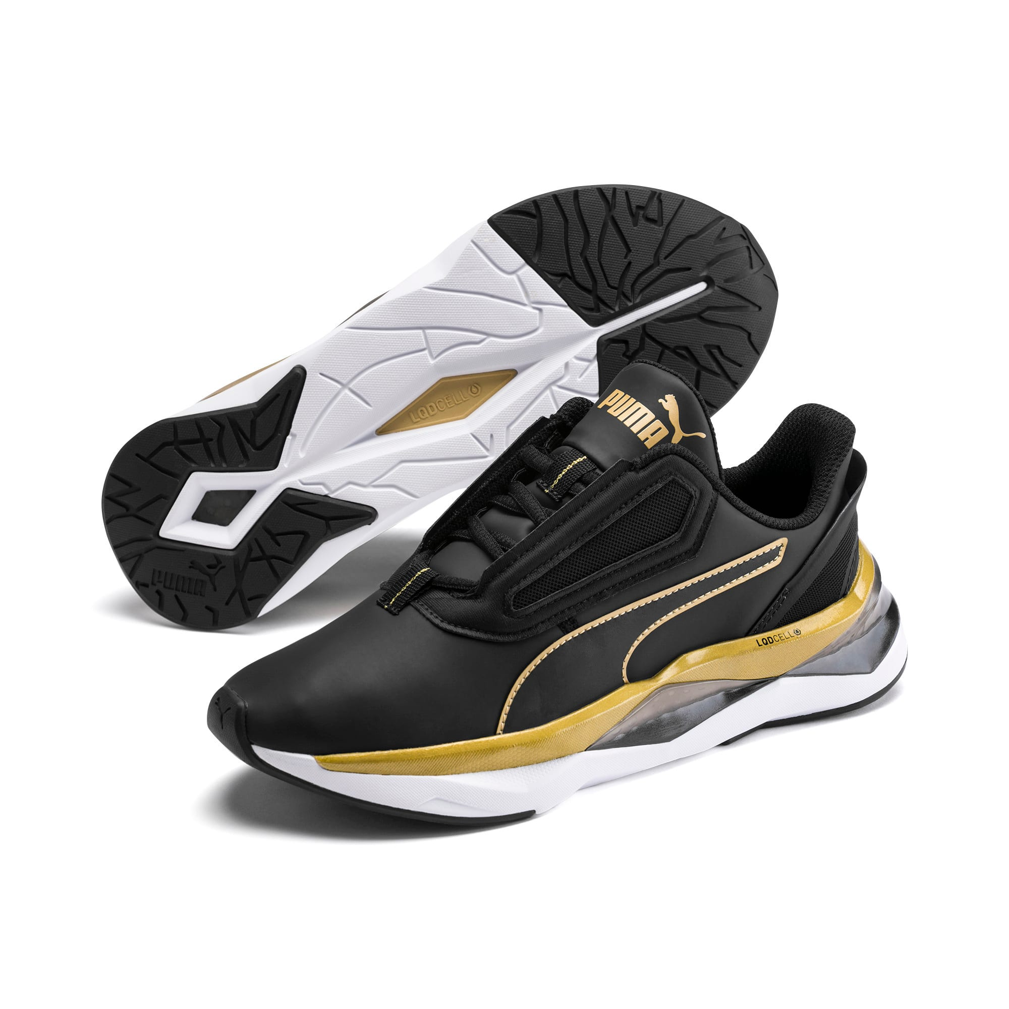Thumbnail 2 of LQDCELL Shatter XT Matte Women's Training Shoes, Puma Black-Puma Team Gold, medium