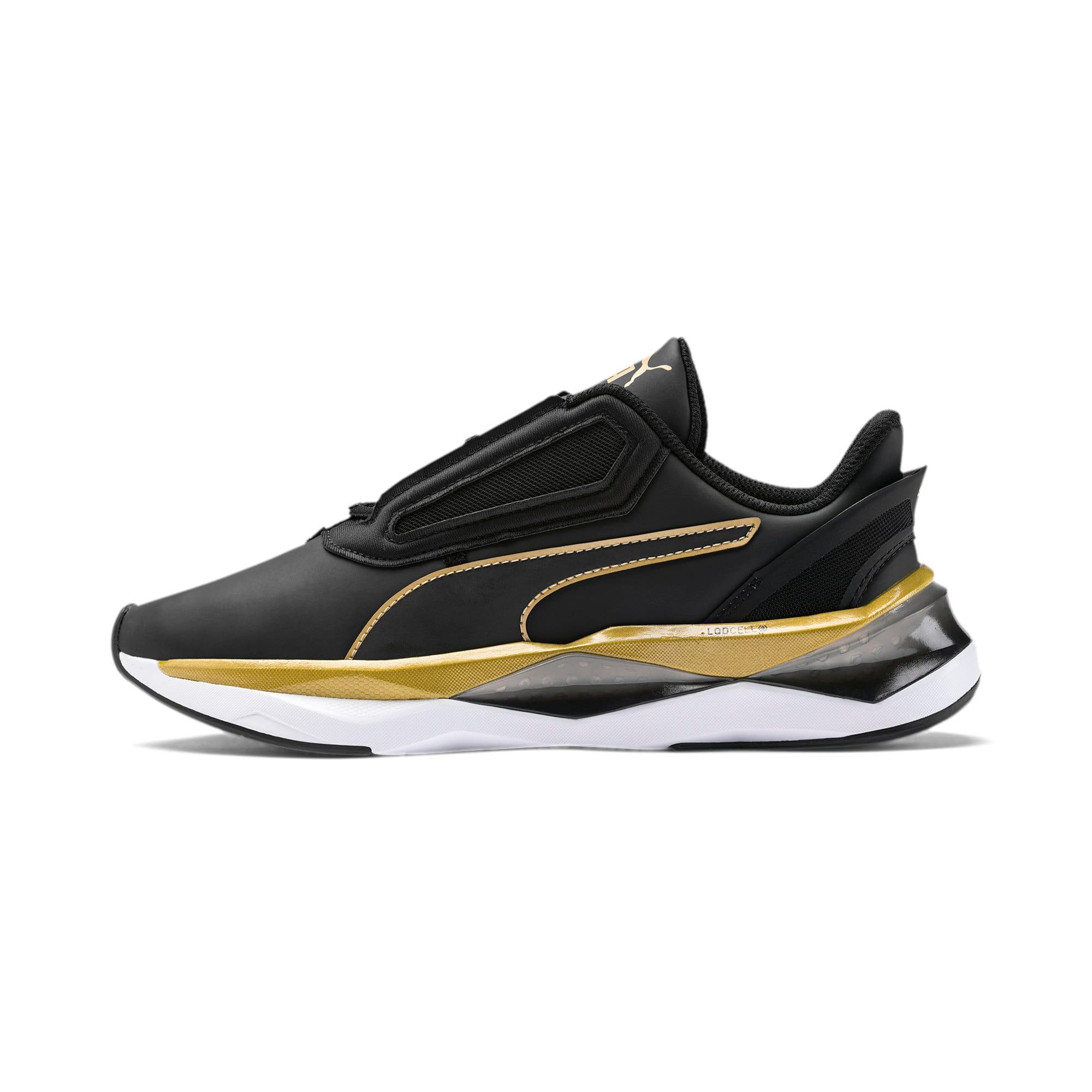 Thumbnail 1 of Shatter XT Matte LQDCELL Women's Running Shoes, Puma Black-Puma Team Gold, medium
