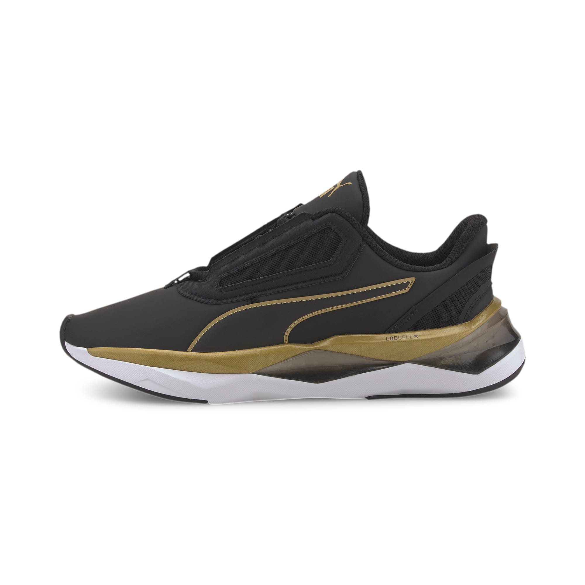 Thumbnail 1 of LQDCELL Shatter XT Matte Women's Training Shoes, Puma Black-Puma Team Gold, medium