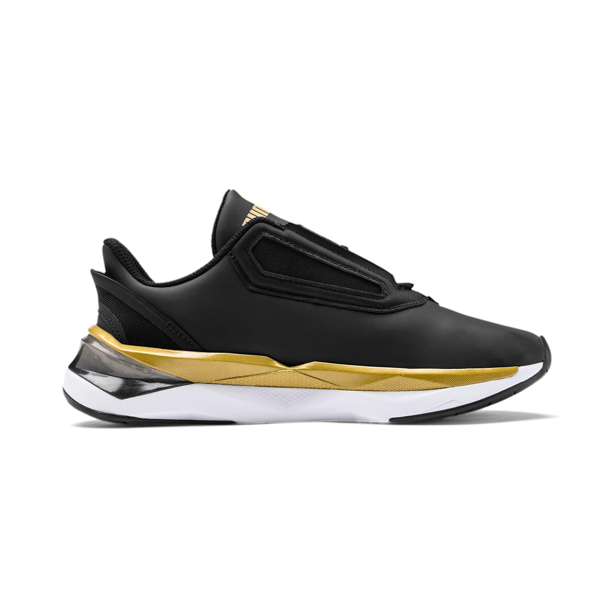 Thumbnail 5 of Shatter XT Matte LQDCELL Women's Running Shoes, Puma Black-Puma Team Gold, medium