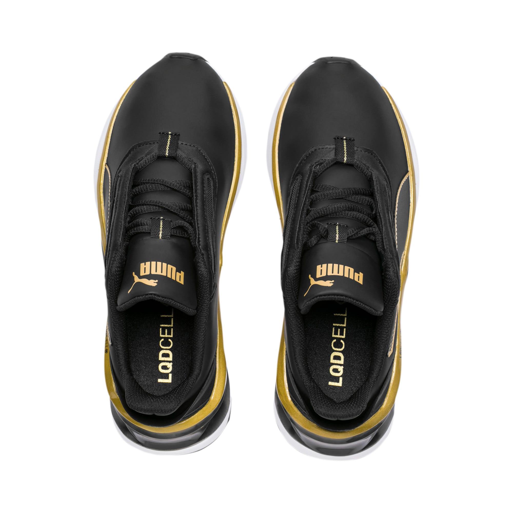 Thumbnail 6 of Shatter XT Matte LQDCELL Women's Running Shoes, Puma Black-Puma Team Gold, medium