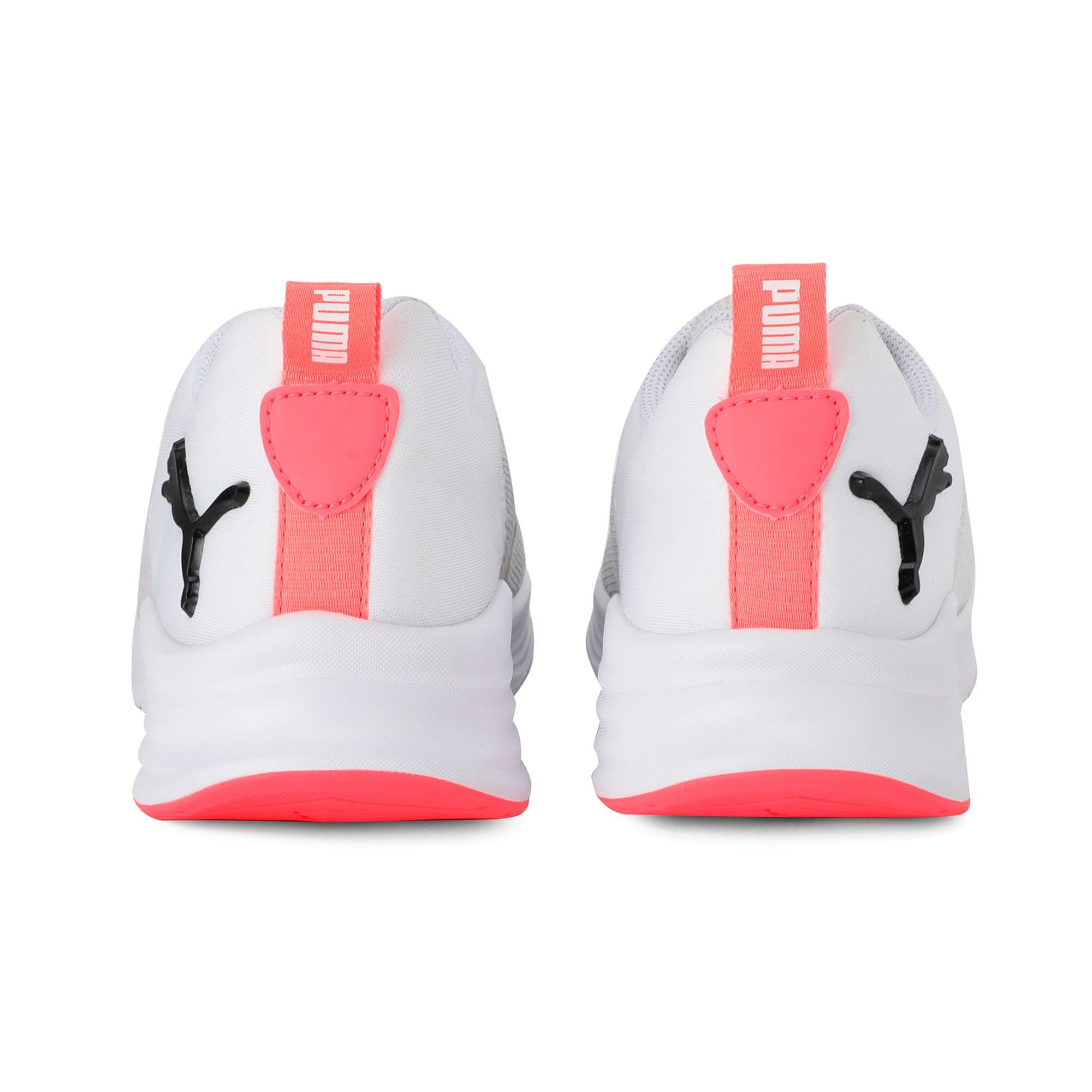 Thumbnail 3 of HYBRID Fuego Knit Women's Running Shoes, Puma White-Pnk Alert-Pma Blk, medium-IND