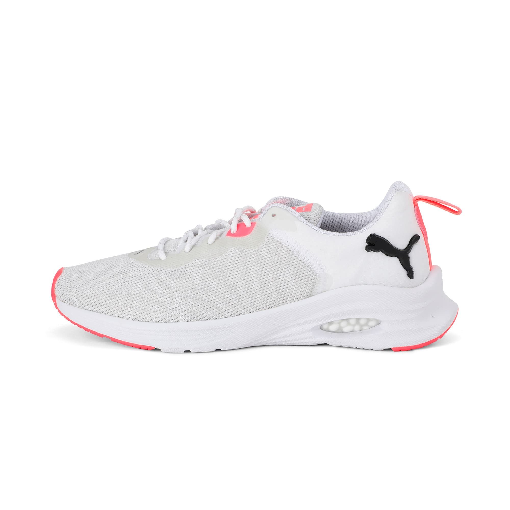 Thumbnail 1 of HYBRID Fuego Knit Women's Running Shoes, Puma White-Pnk Alert-Pma Blk, medium-IND
