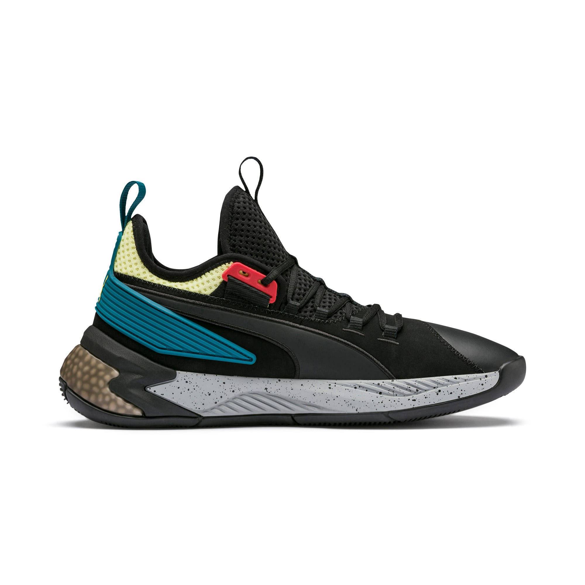 Thumbnail 5 of Uproar Spectra Basketball Shoes, Puma Black-Limelight, medium