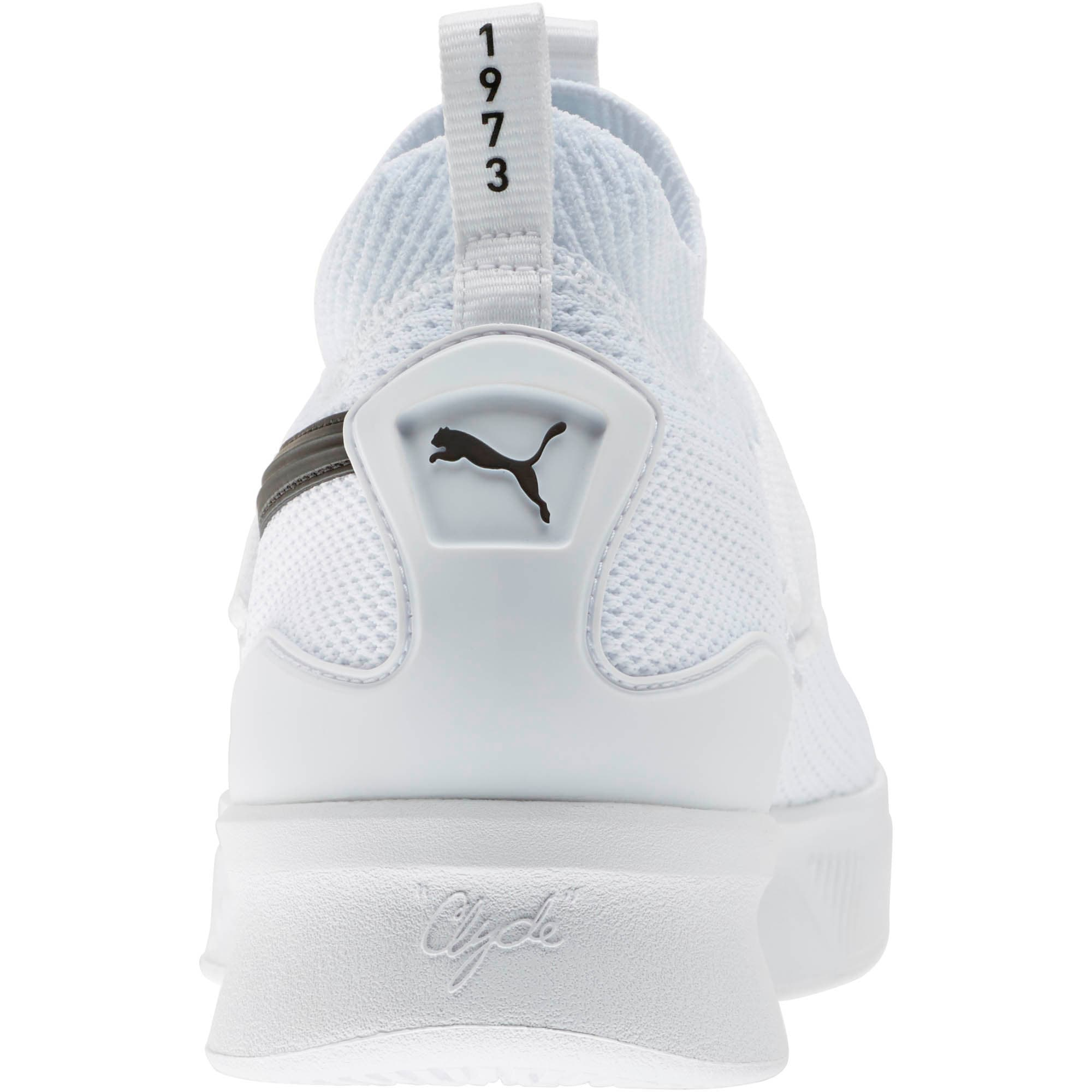 Thumbnail 3 of Clyde Court Basketball Shoes JR, Puma White, medium