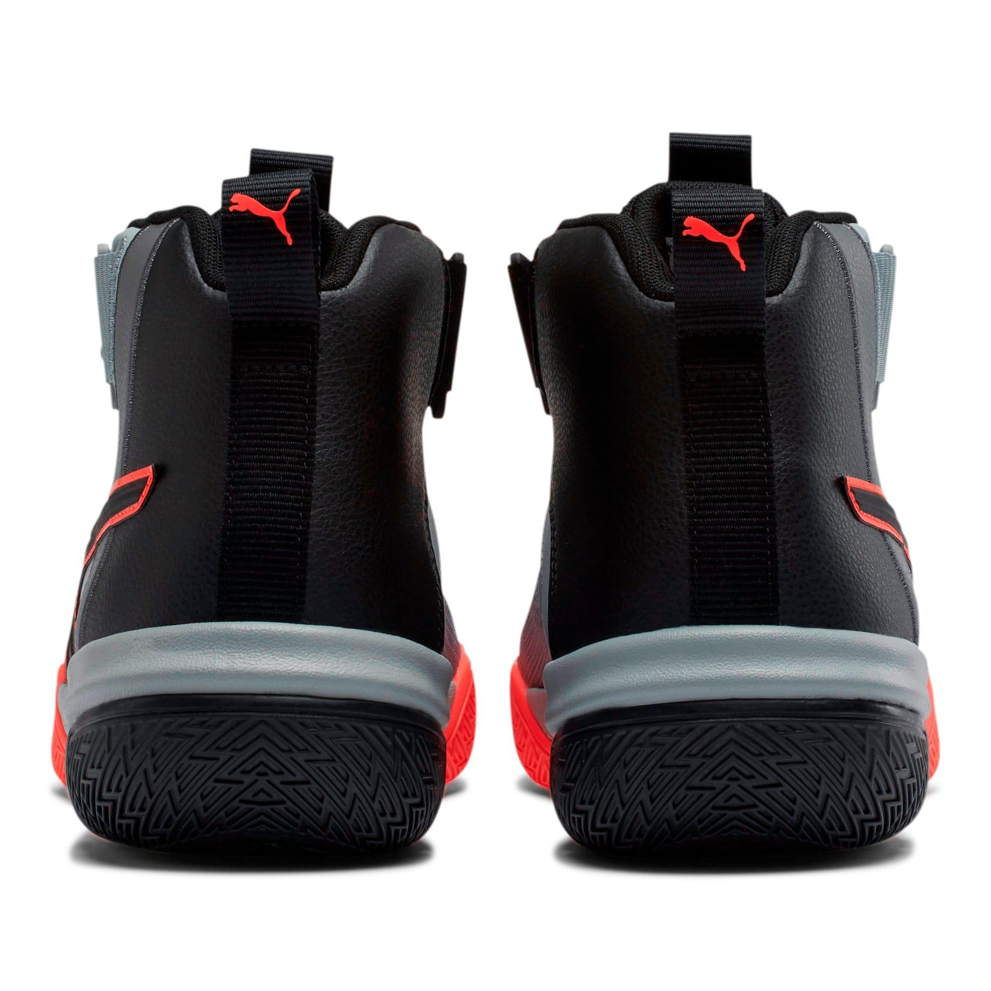 Thumbnail 3 of Legacy Disrupt Basketball Shoes, Puma Black-Red Blast, medium