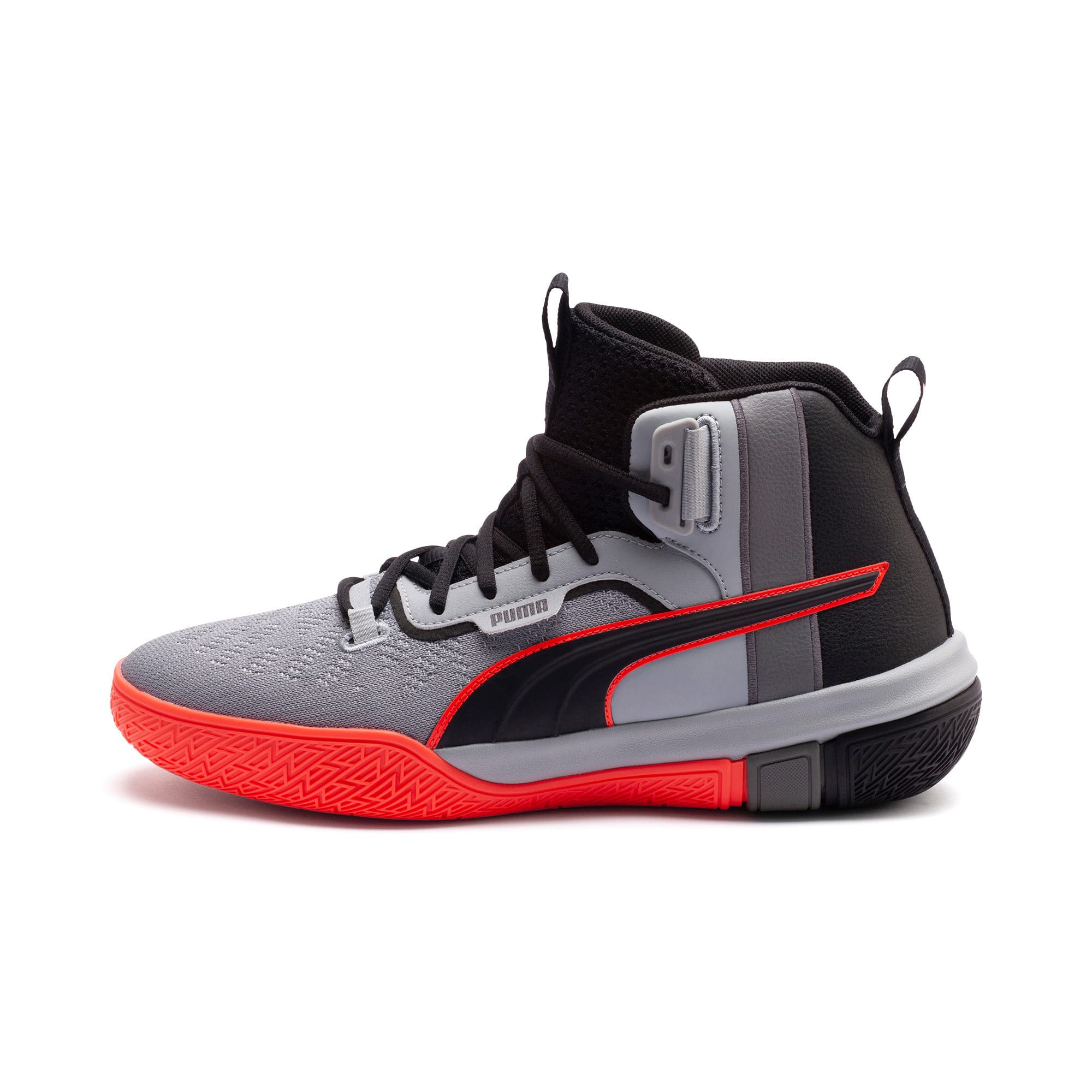 Thumbnail 1 of Legacy Disrupt Men's Basketball Shoes, Puma Black-Red Blast, medium