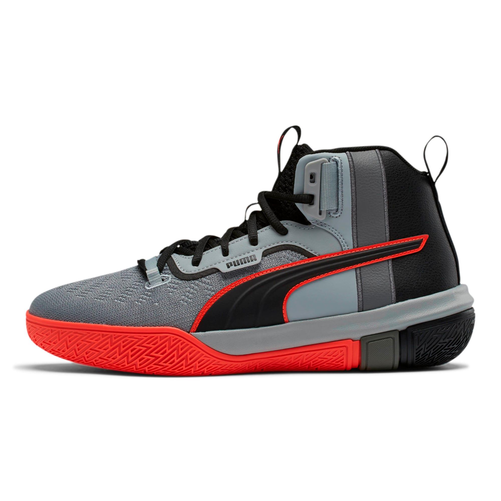 Thumbnail 1 of Legacy Disrupt Basketball Shoes, Puma Black-Red Blast, medium