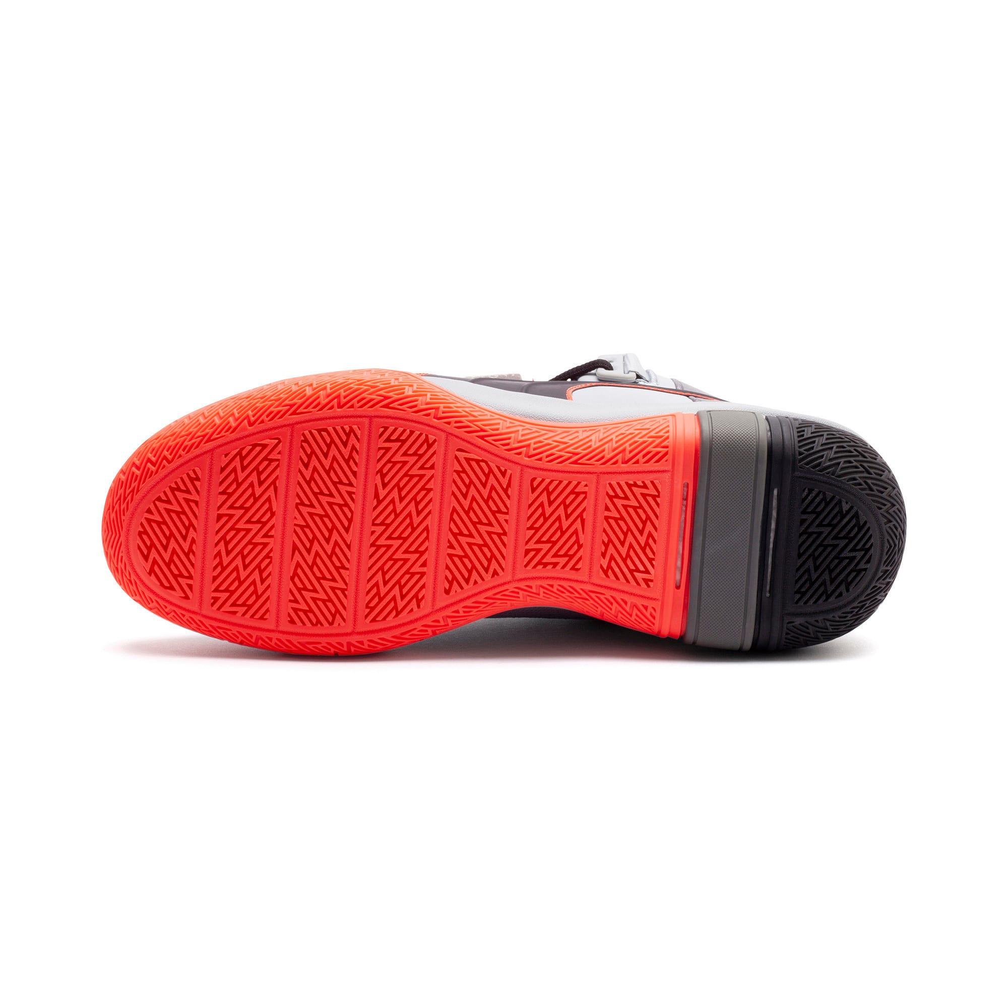 Thumbnail 4 of Legacy Disrupt Men's Basketball Shoes, Puma Black-Red Blast, medium