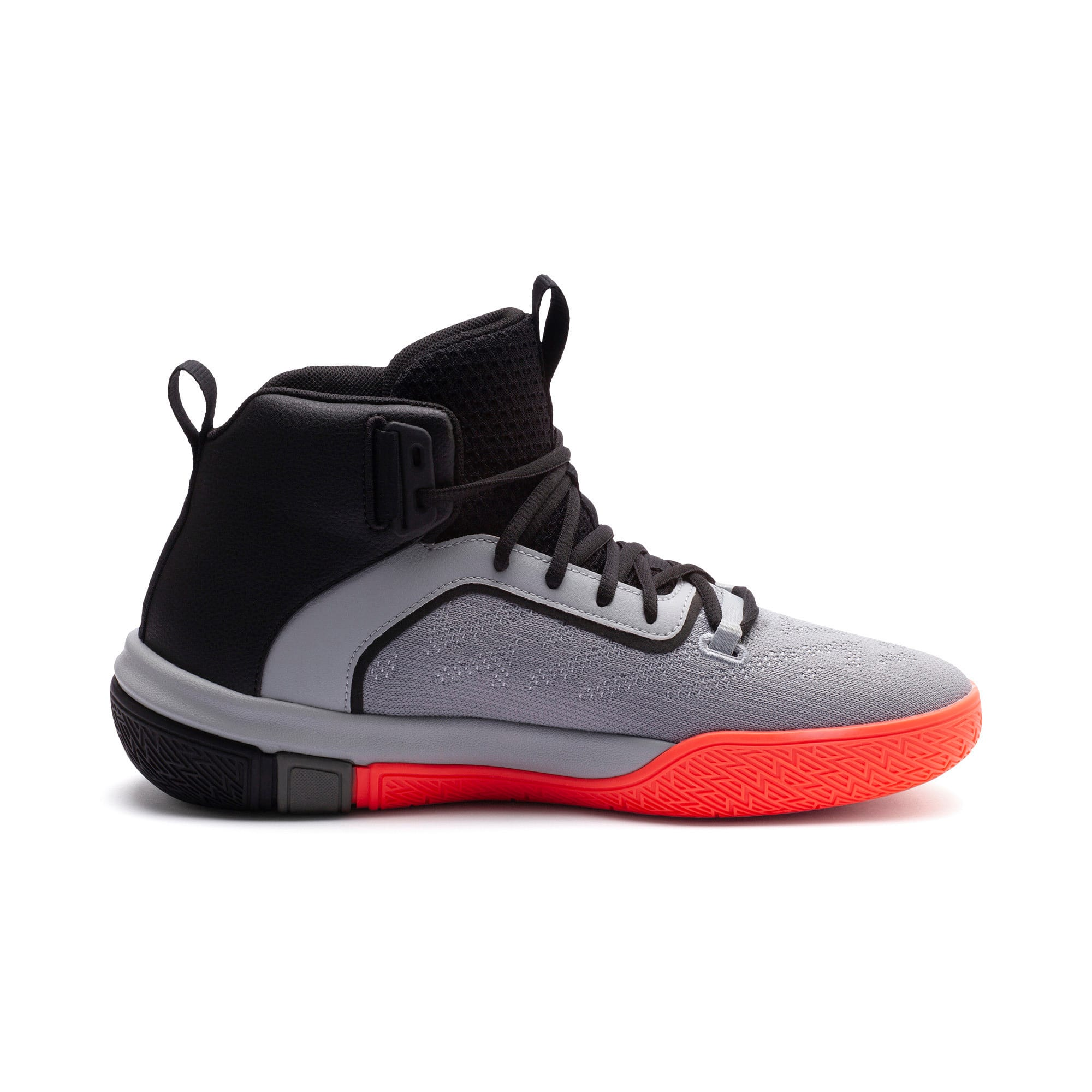 Thumbnail 5 of Legacy Disrupt Men's Basketball Shoes, Puma Black-Red Blast, medium