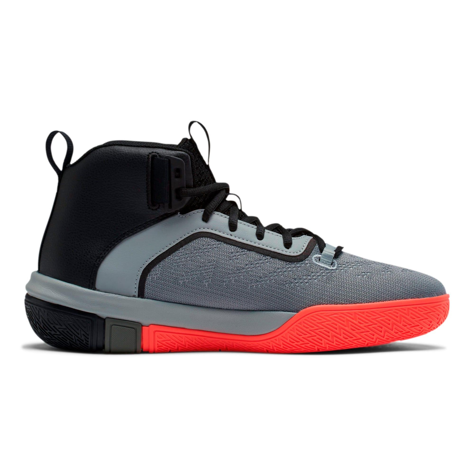 Thumbnail 5 of Legacy Disrupt Basketball Shoes, Puma Black-Red Blast, medium