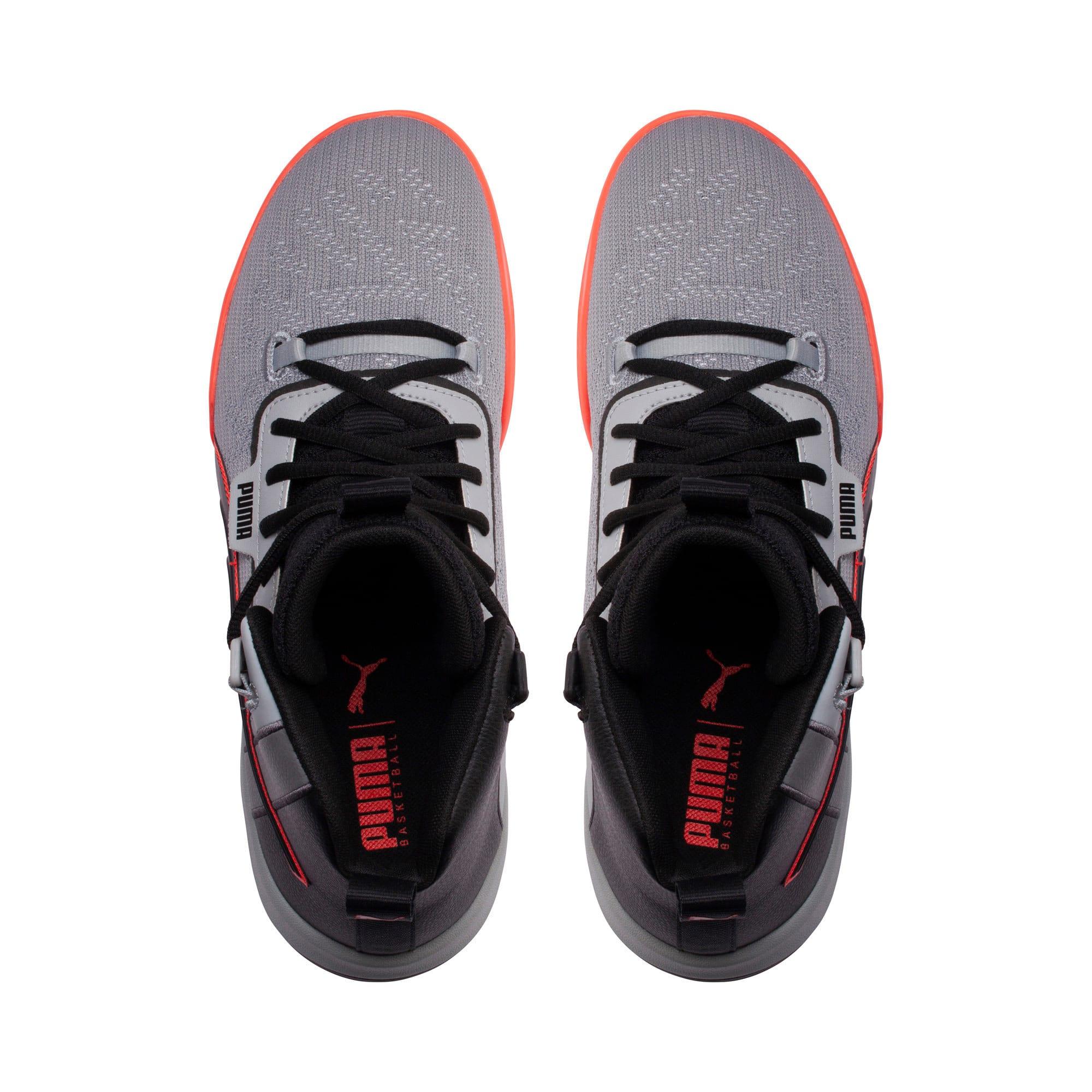 Thumbnail 6 of Legacy Disrupt Men's Basketball Shoes, Puma Black-Red Blast, medium