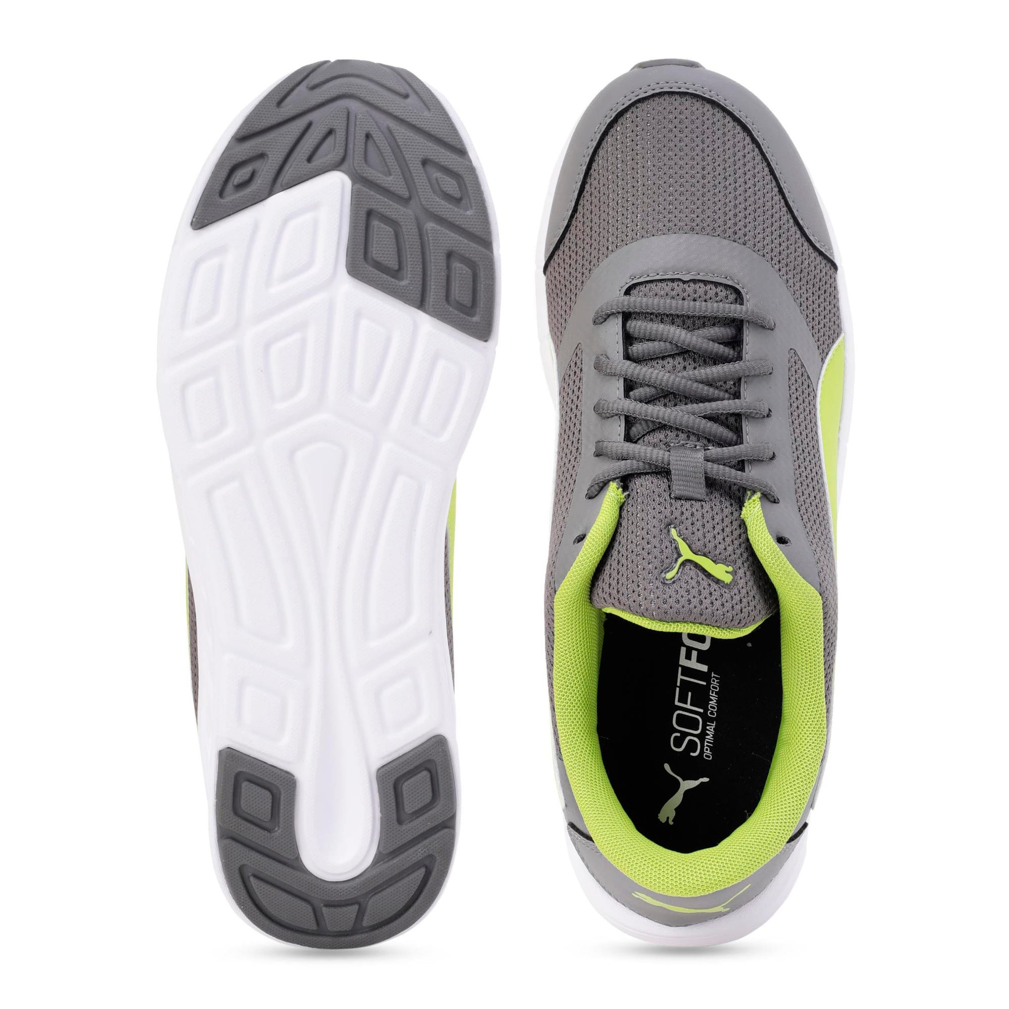 Thumbnail 4 of Solar V IDP Puma Black-Puma White, Charcoal Gray-White-Lime, medium-IND