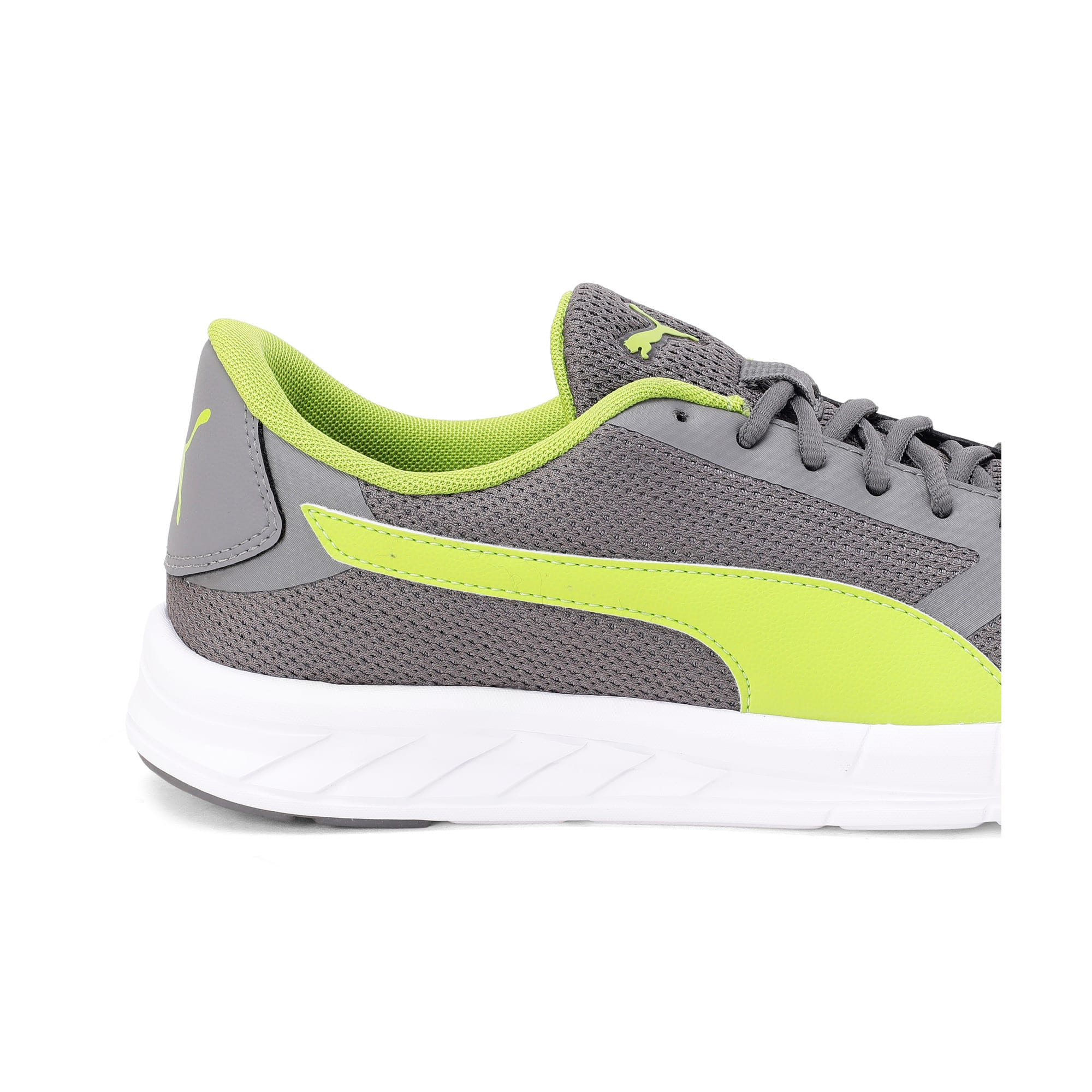 Thumbnail 3 of Solar V IDP Puma Black-Puma White, Charcoal Gray-White-Lime, medium-IND