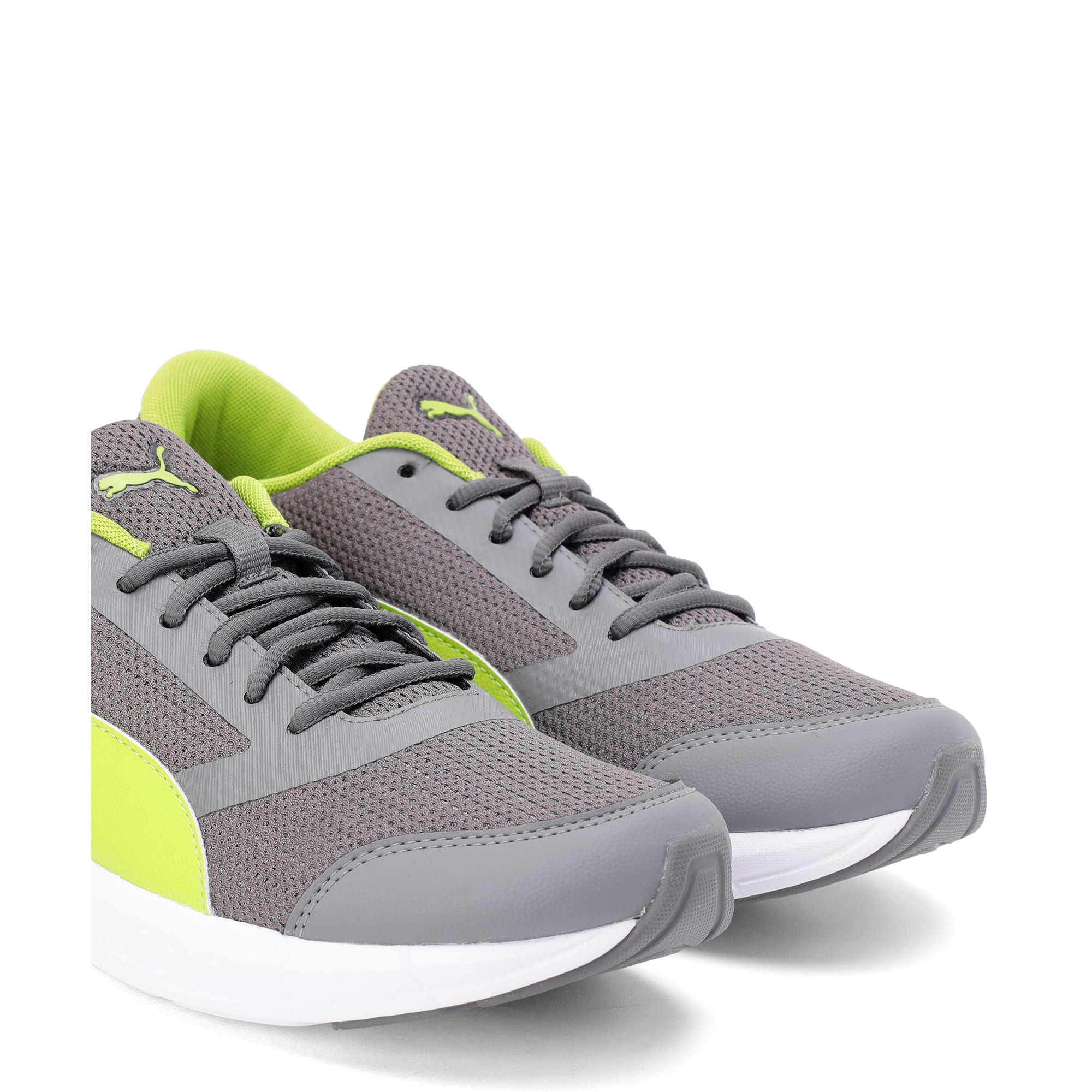 Thumbnail 2 of Solar V IDP Puma Black-Puma White, Charcoal Gray-White-Lime, medium-IND