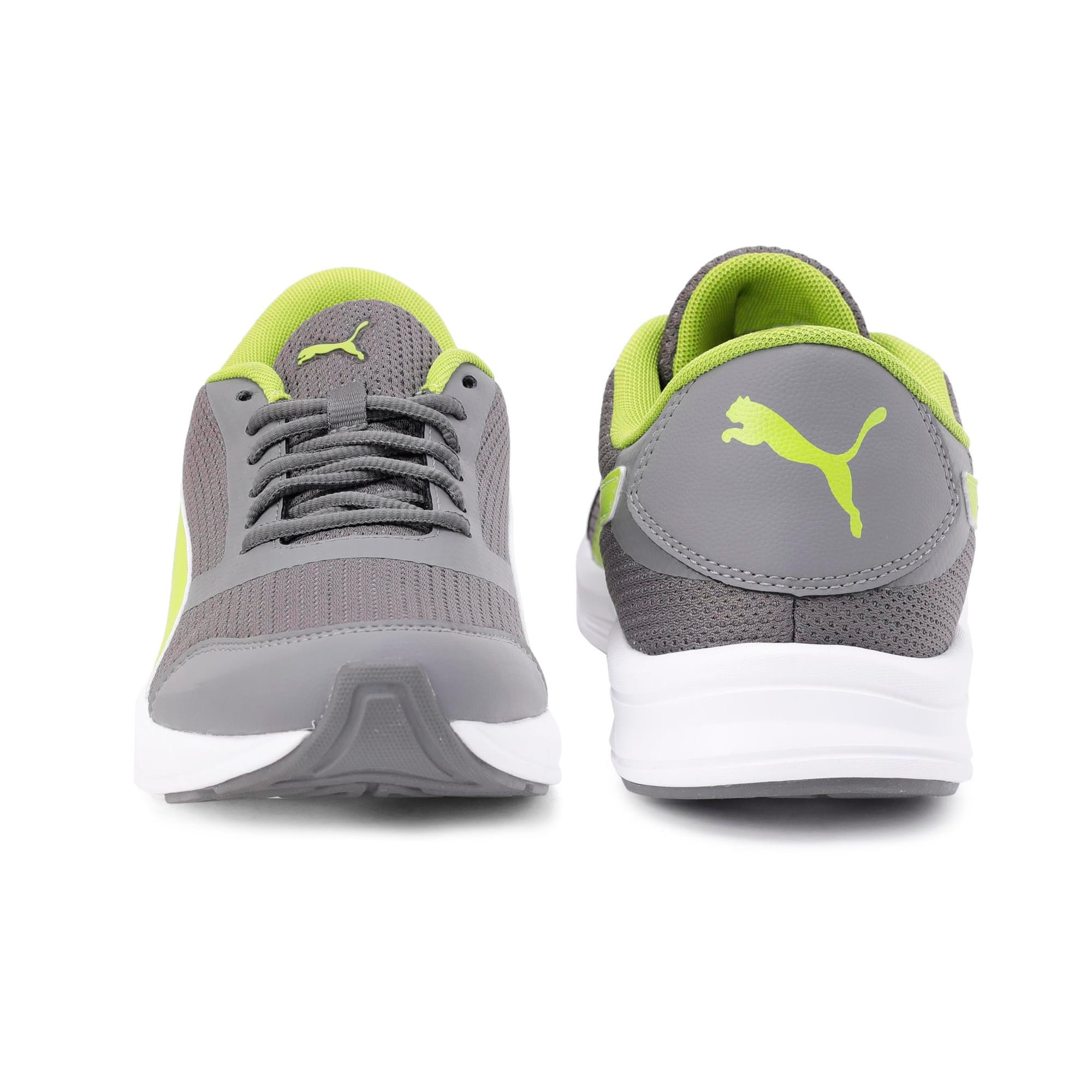 Thumbnail 5 of Solar V IDP Puma Black-Puma White, Charcoal Gray-White-Lime, medium-IND