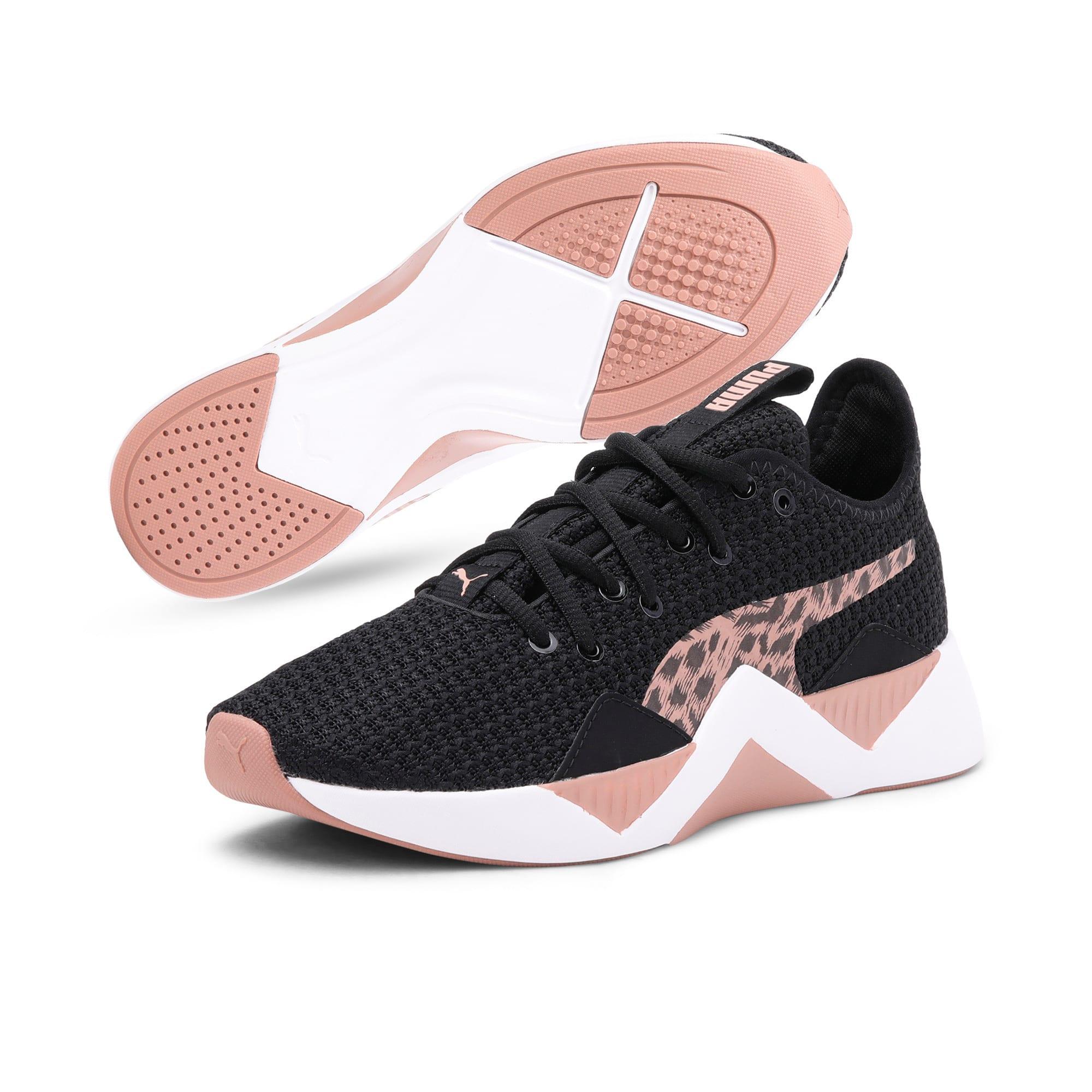 Thumbnail 2 of Incite Leopard Women's Sneakers, Puma Black-Mocha Mousse, medium